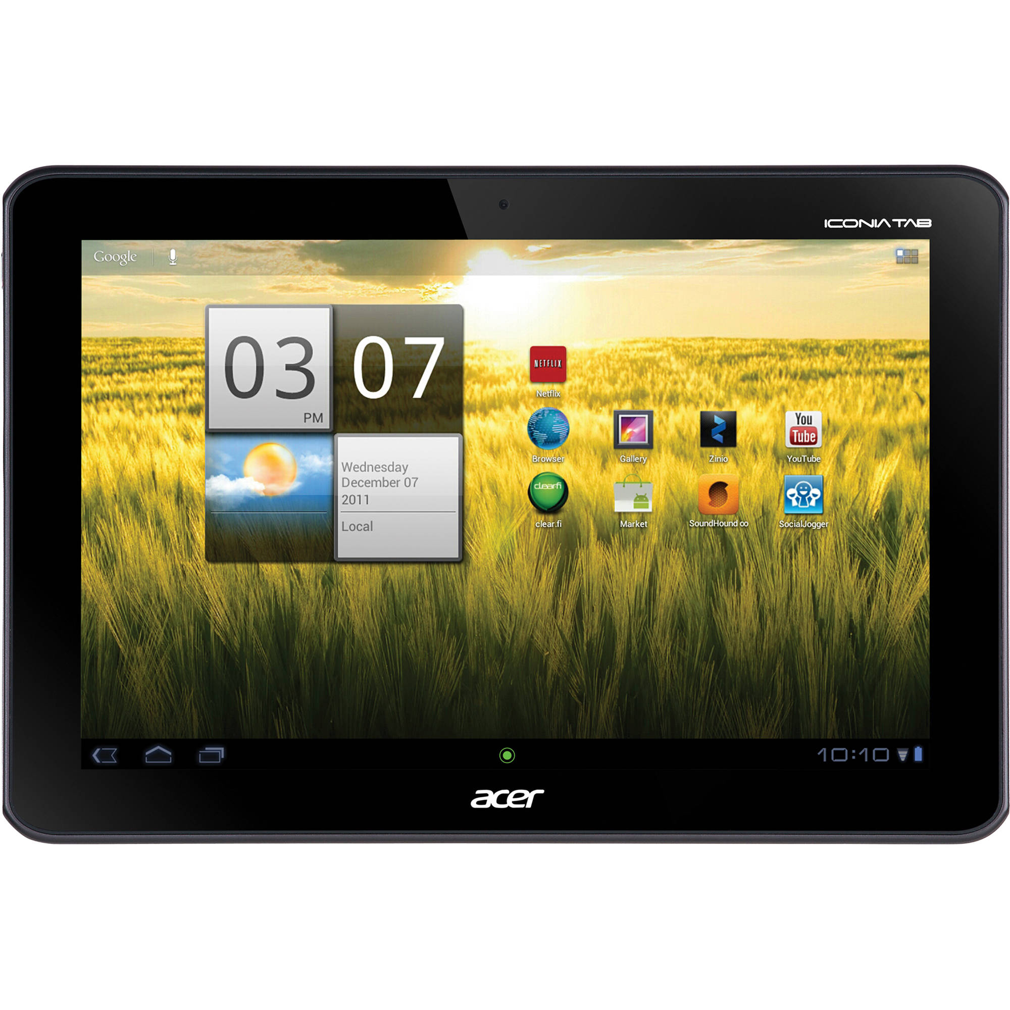 acer 16gb iconia tab a series 10 1 xe h8qpn 001 b h photo rh bhphotovideo com Acer Iconia 2017 Acer Iconia Tab 200