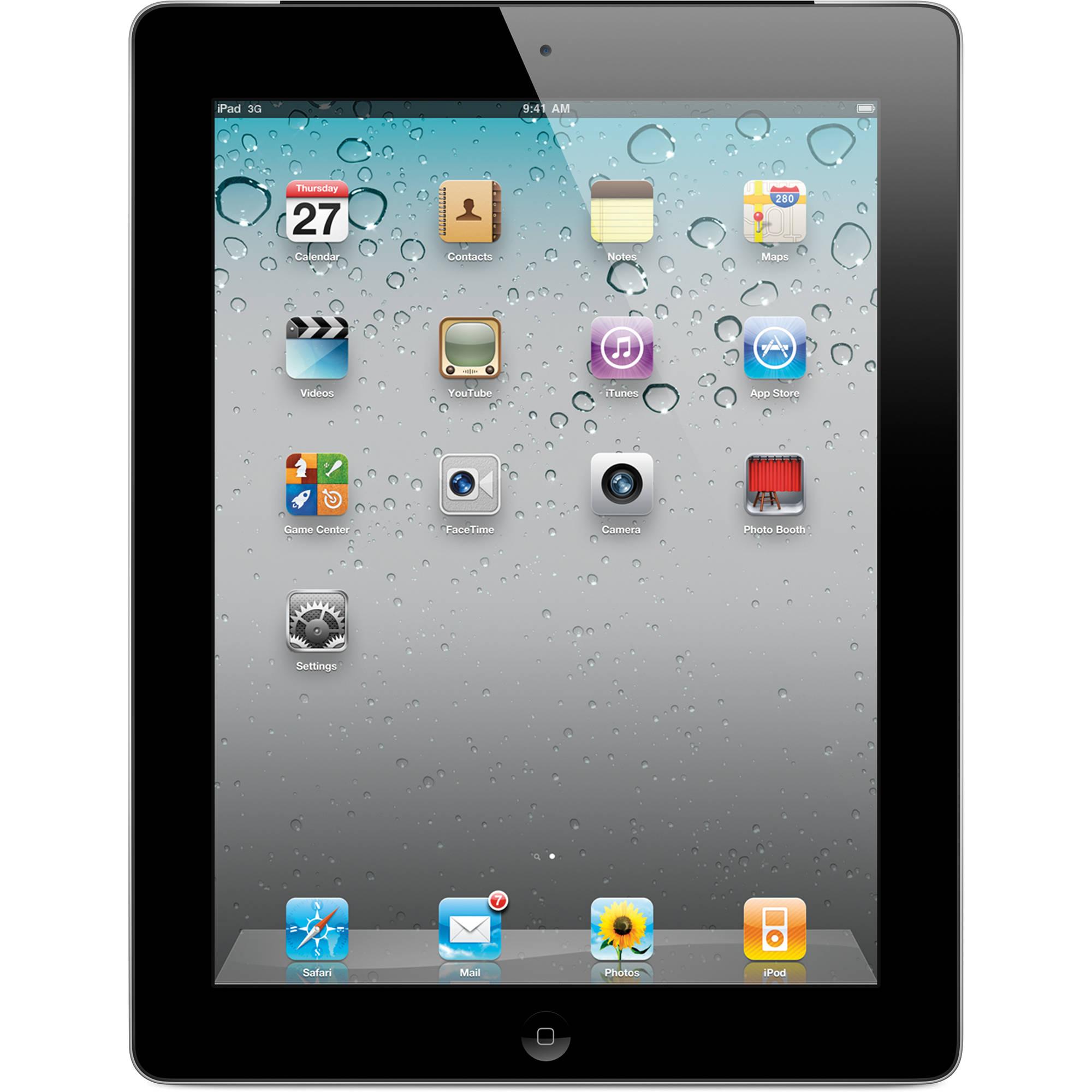 apple 16gb ipad 2 with wi fi 3g verizon black mc755ll a b h rh bhphotovideo com Apple iPad 2 32GB iPad 2 3G Sim Card