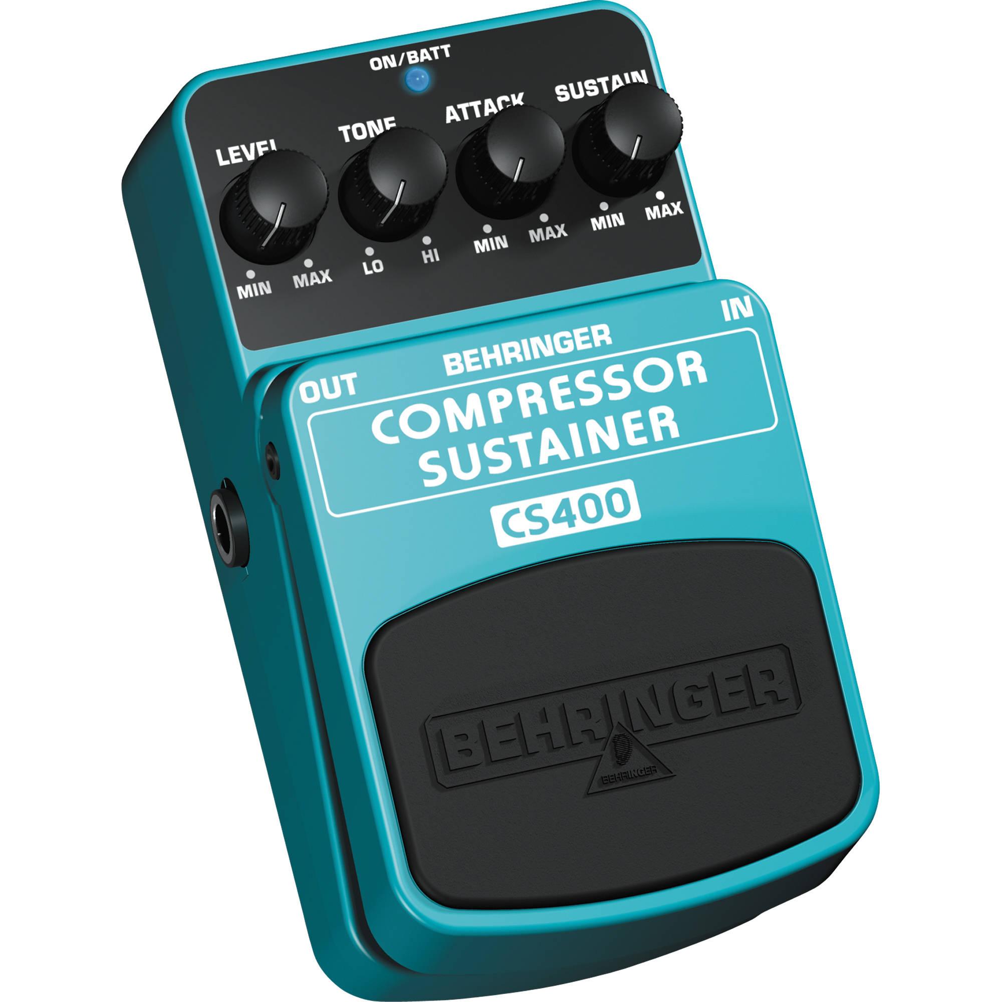 behringer cs400 compressor sustain guitar pedal cs400 b h photo. Black Bedroom Furniture Sets. Home Design Ideas