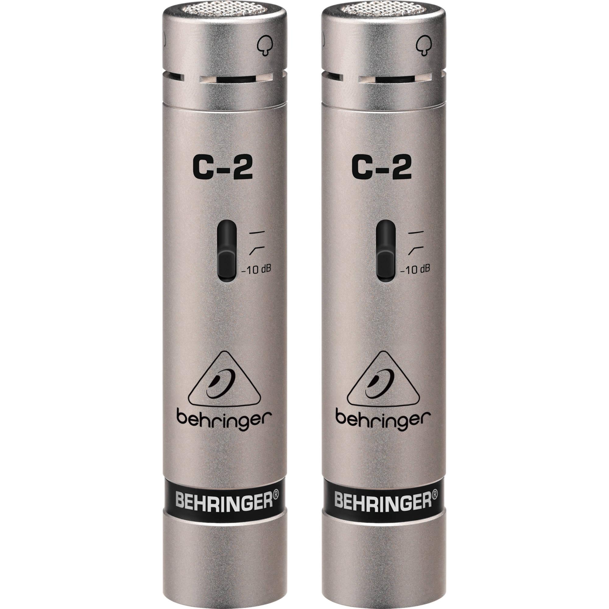 behringer c 2 matched studio condenser microphones c2 b b h