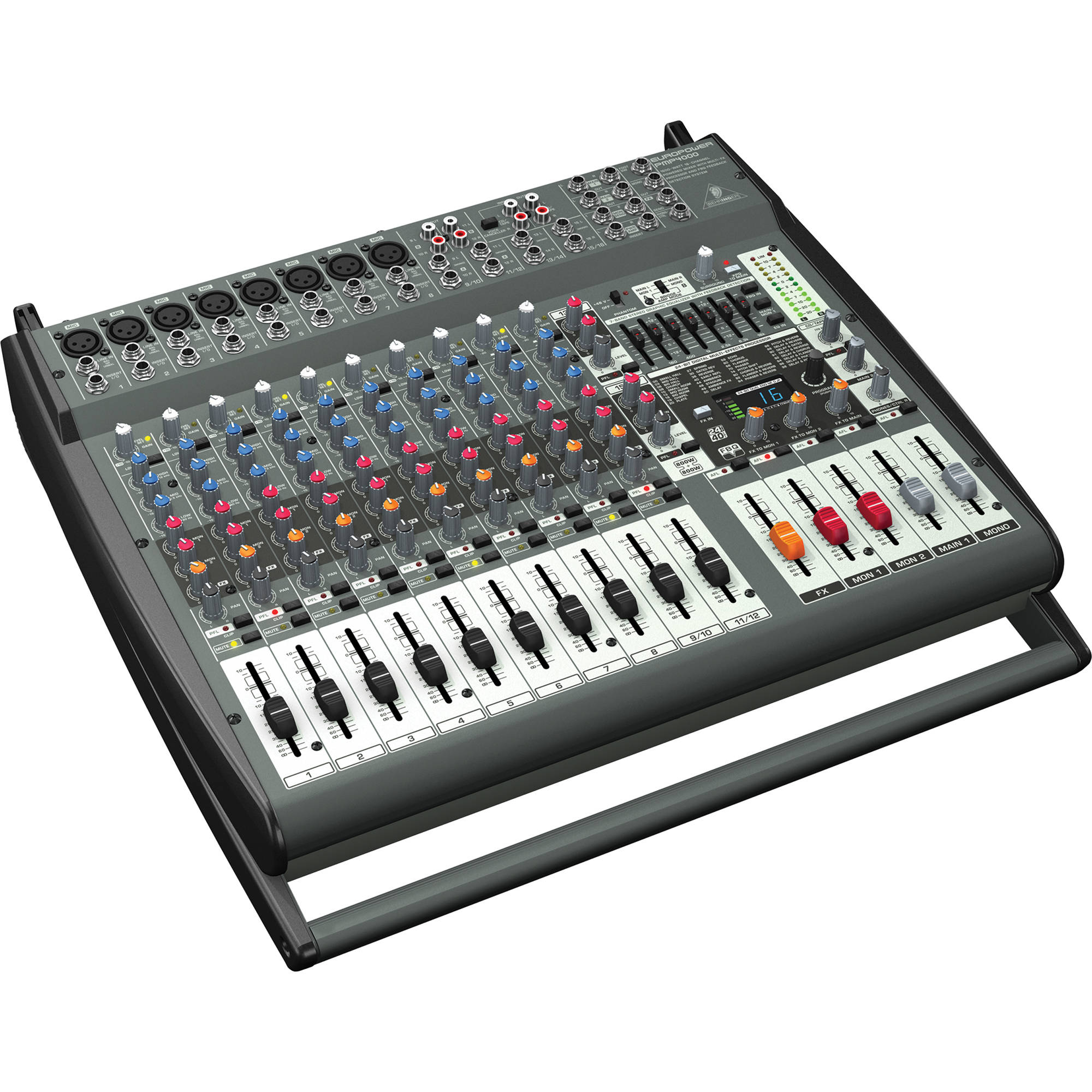 behringer pmp4000 16 channel powered mixer pmp4000 b h photo. Black Bedroom Furniture Sets. Home Design Ideas