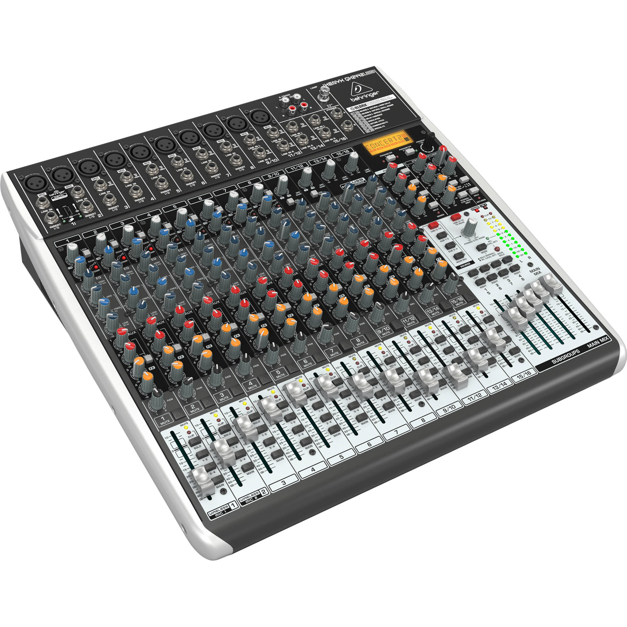 behringer xenyx qx2442usb 24 channel usb mixer qx2442usb b h. Black Bedroom Furniture Sets. Home Design Ideas