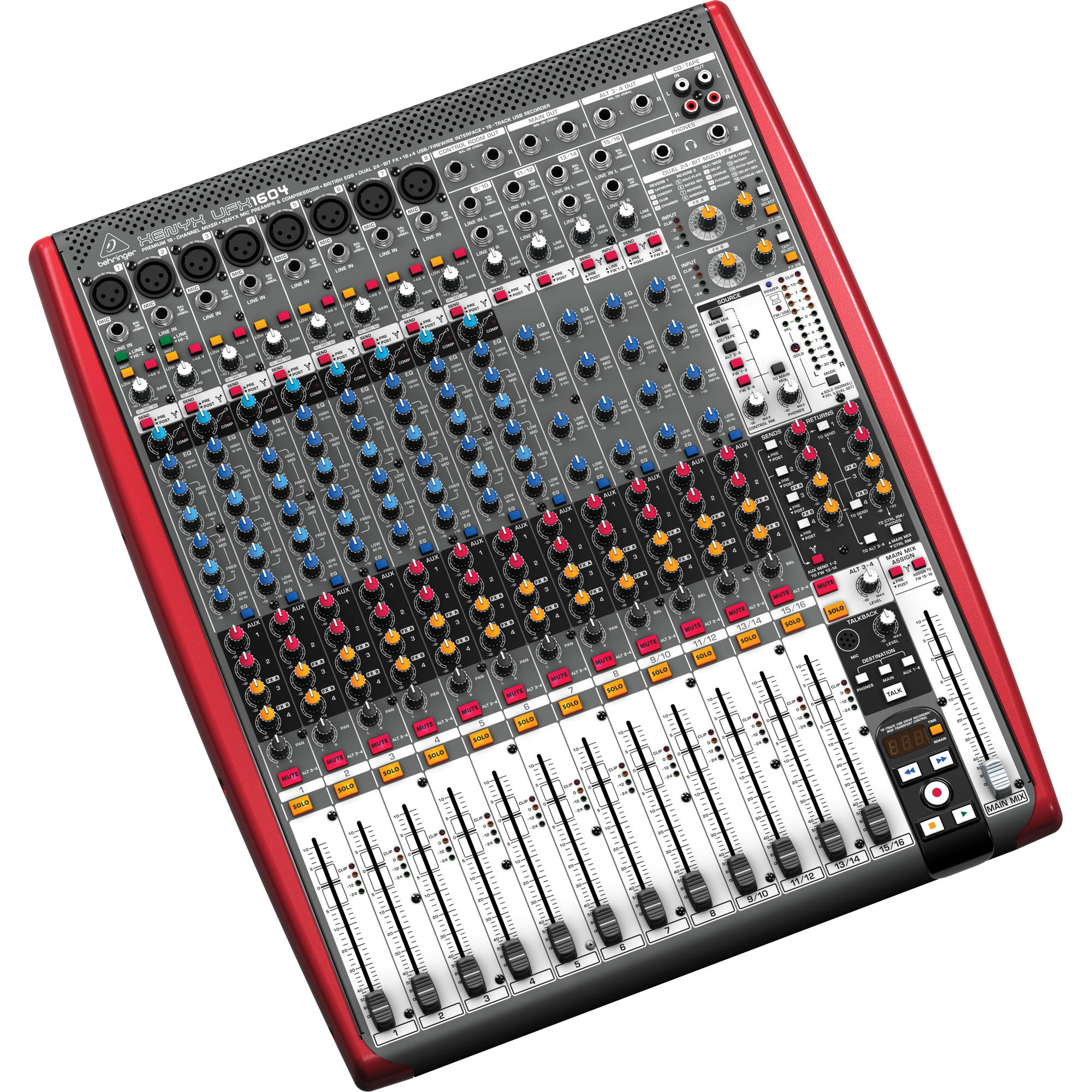 behringer xenyx ufx1604 16 input 4 bus mixer with 16x4 ufx1604. Black Bedroom Furniture Sets. Home Design Ideas