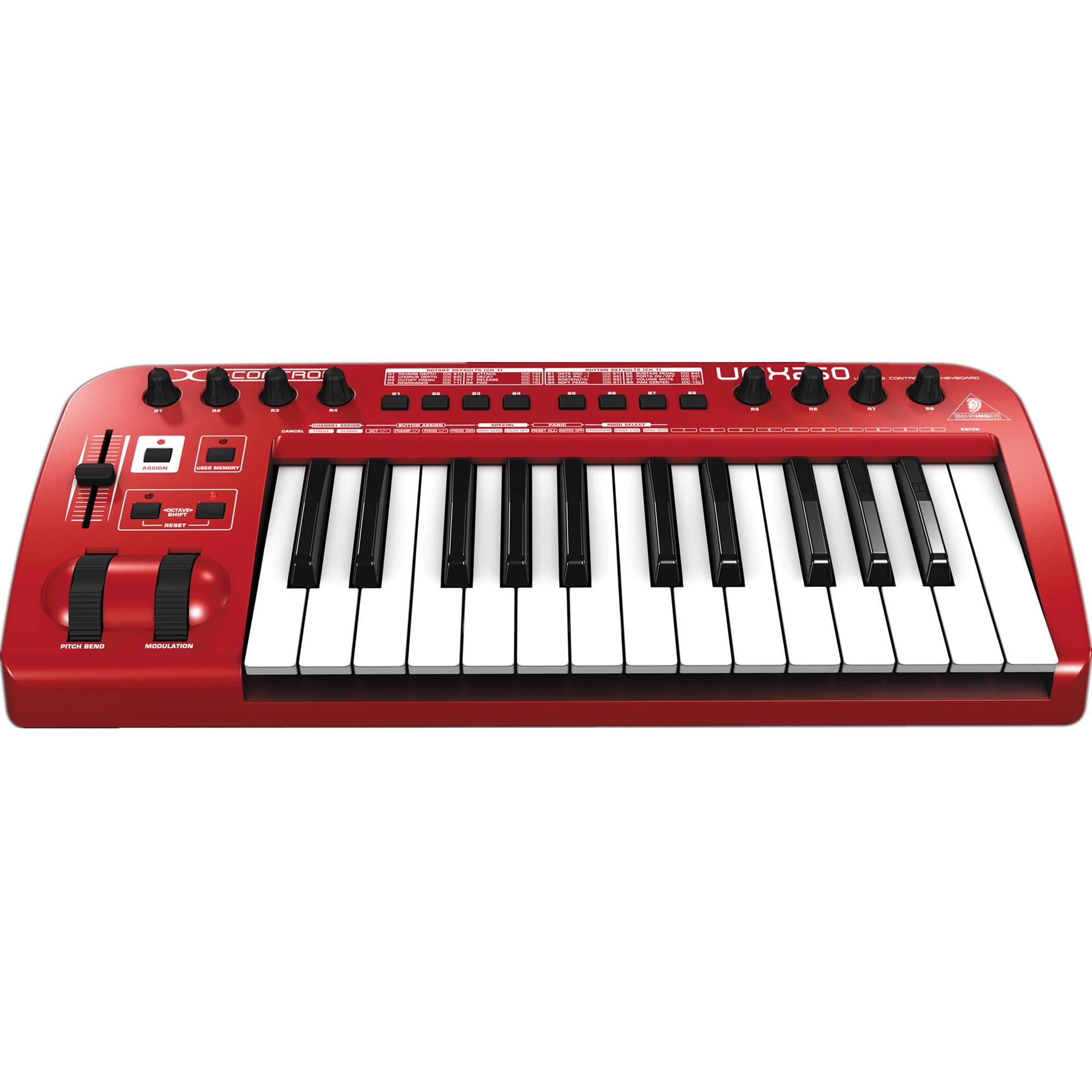 behringer u umx250 usb midi keyboard controller umx250 b h. Black Bedroom Furniture Sets. Home Design Ideas