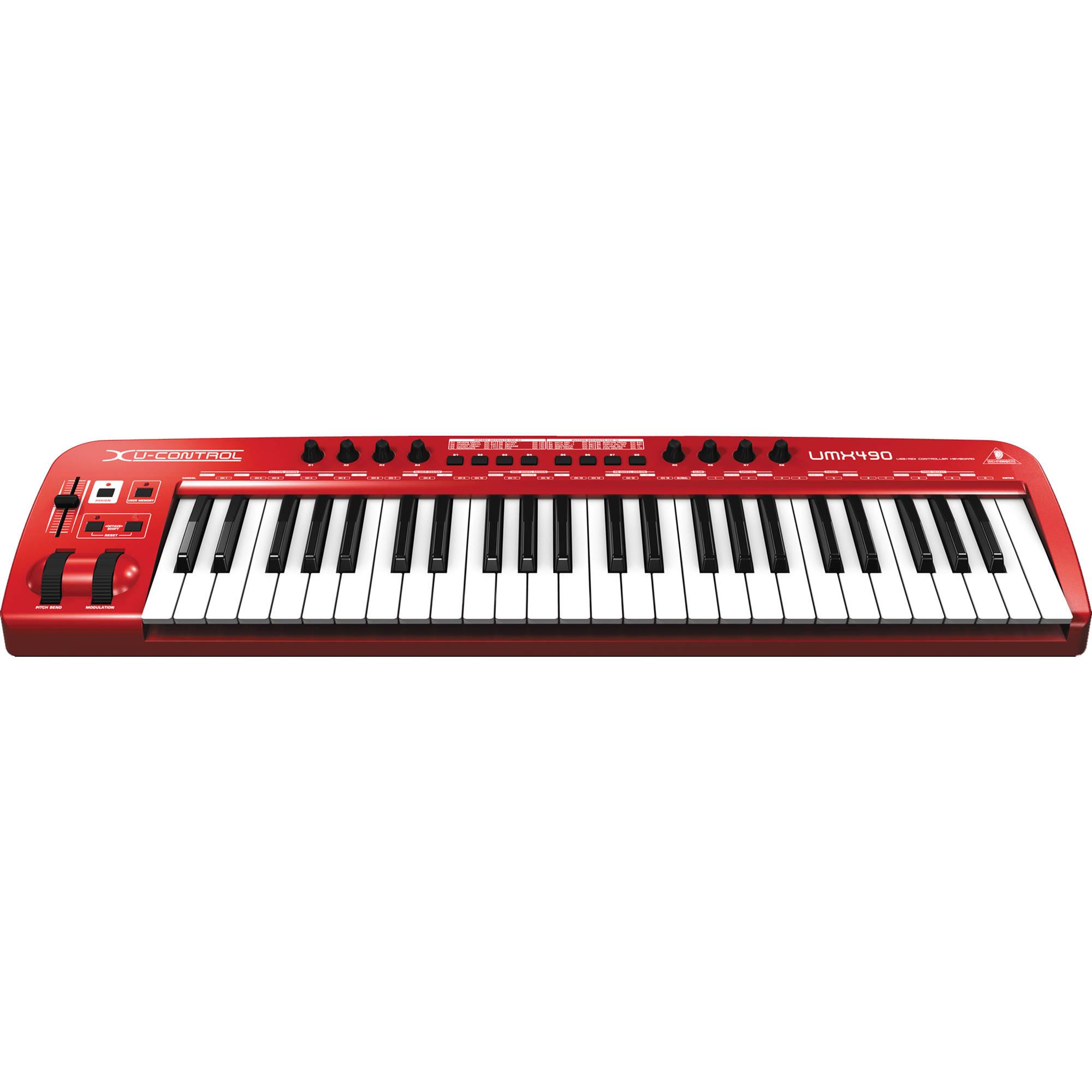 behringer umx490 usb midi keyboard controller umx490 b h photo. Black Bedroom Furniture Sets. Home Design Ideas