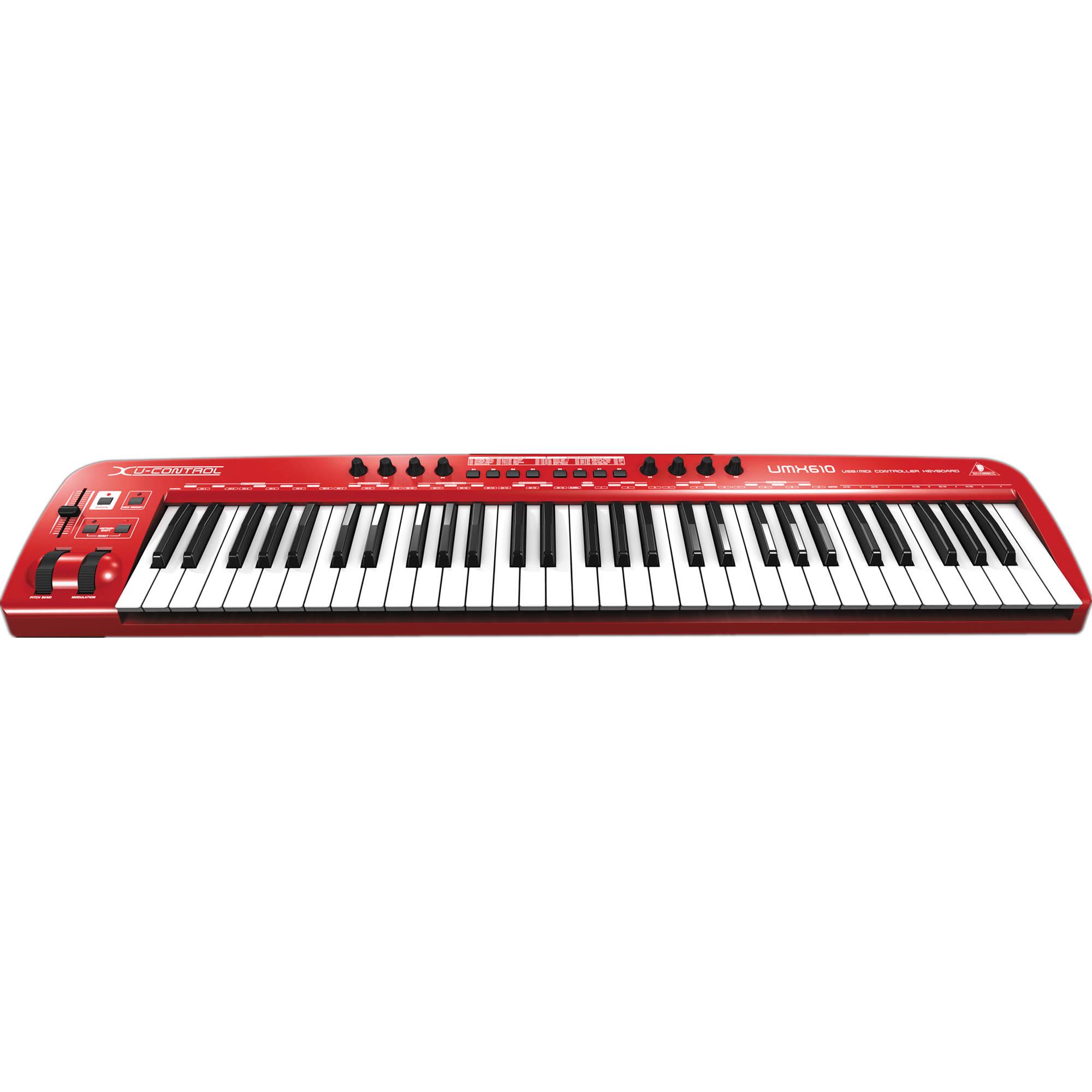 behringer umx610 usb midi keyboard controller umx610 b h photo. Black Bedroom Furniture Sets. Home Design Ideas