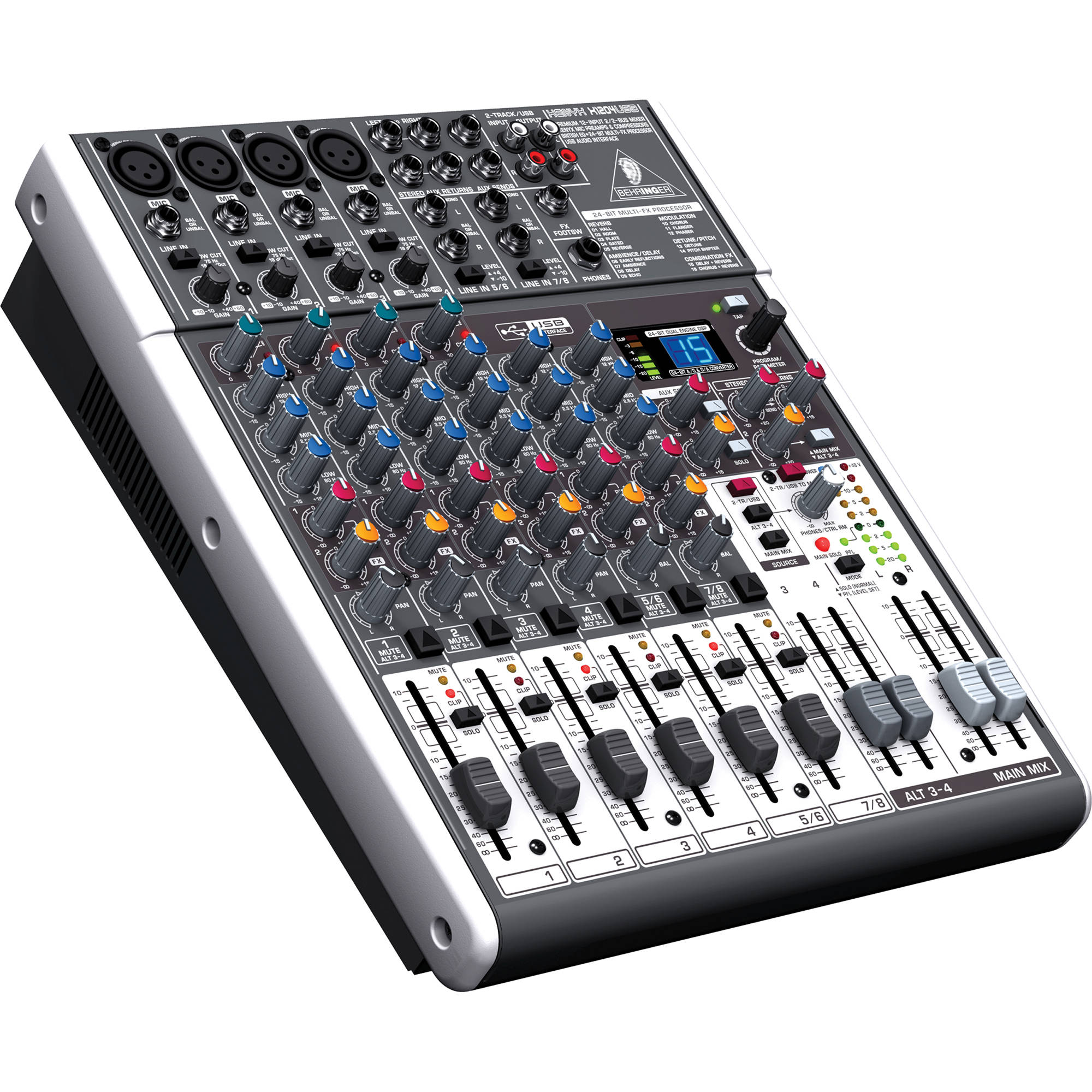 behringer xenyx x1204usb 12 input usb audio mixer x1204usb b h. Black Bedroom Furniture Sets. Home Design Ideas