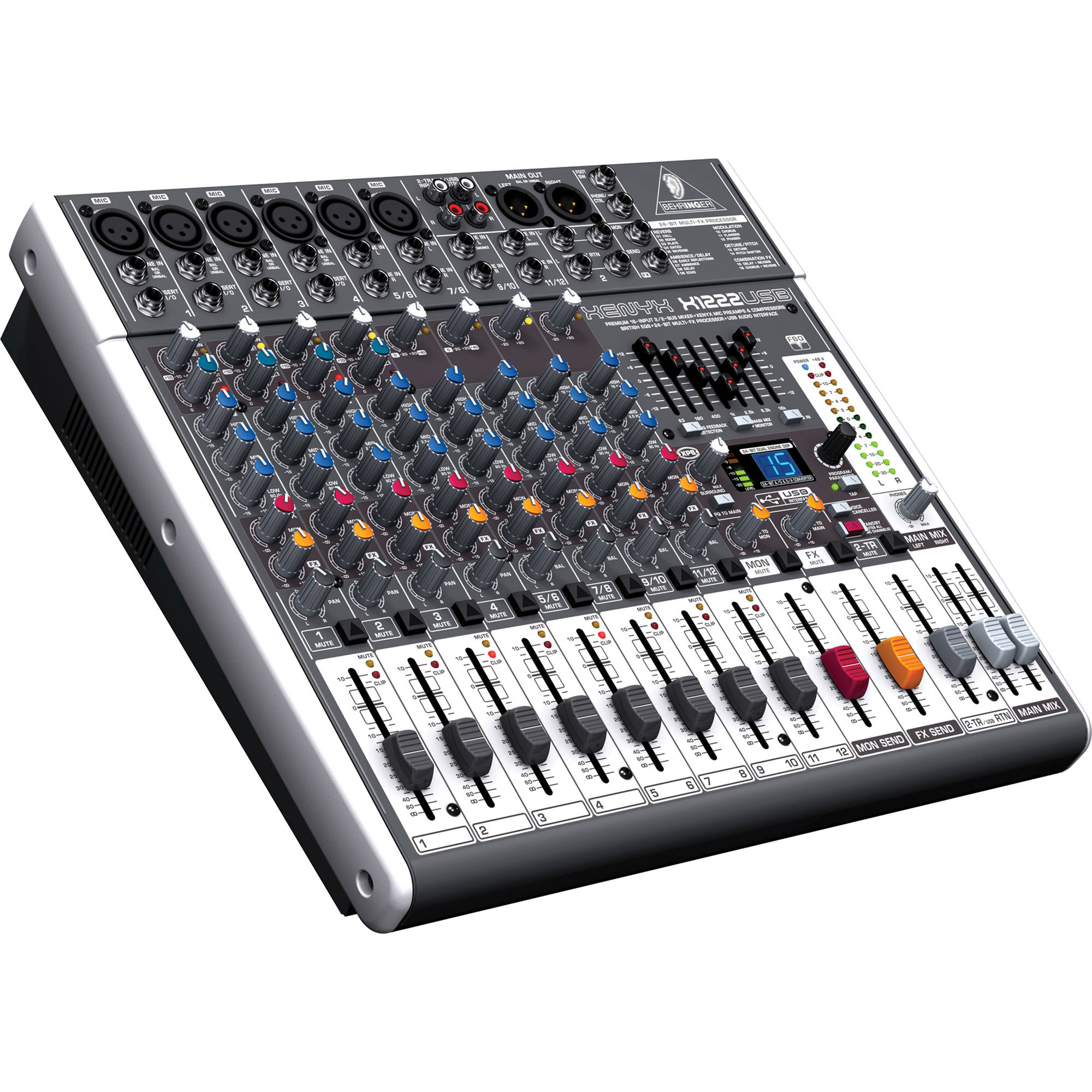 behringer xenyx x1222usb 16 input usb audio mixer x1222usb b h. Black Bedroom Furniture Sets. Home Design Ideas
