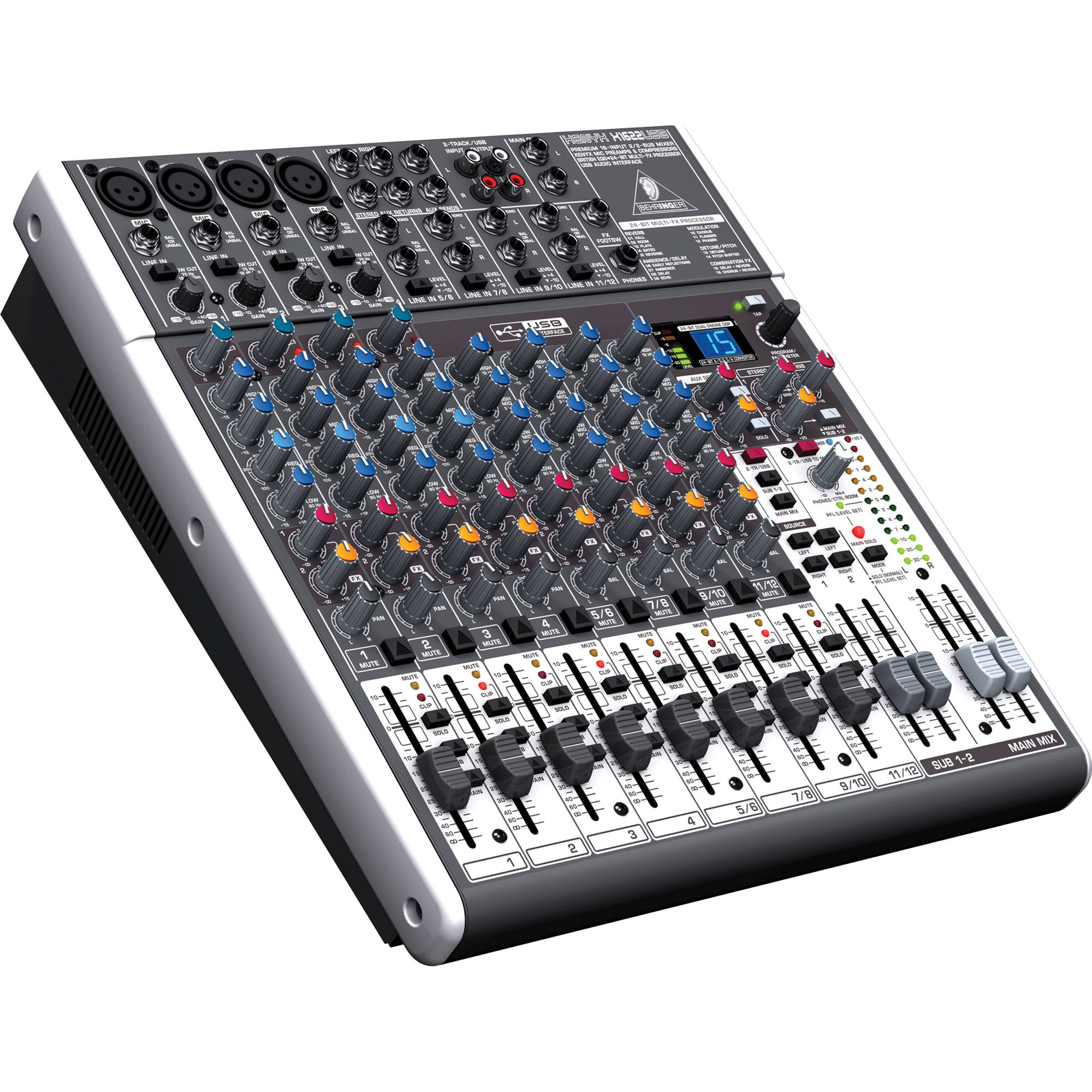 behringer xenyx x1622usb 16 input usb audio mixer with effects. Black Bedroom Furniture Sets. Home Design Ideas