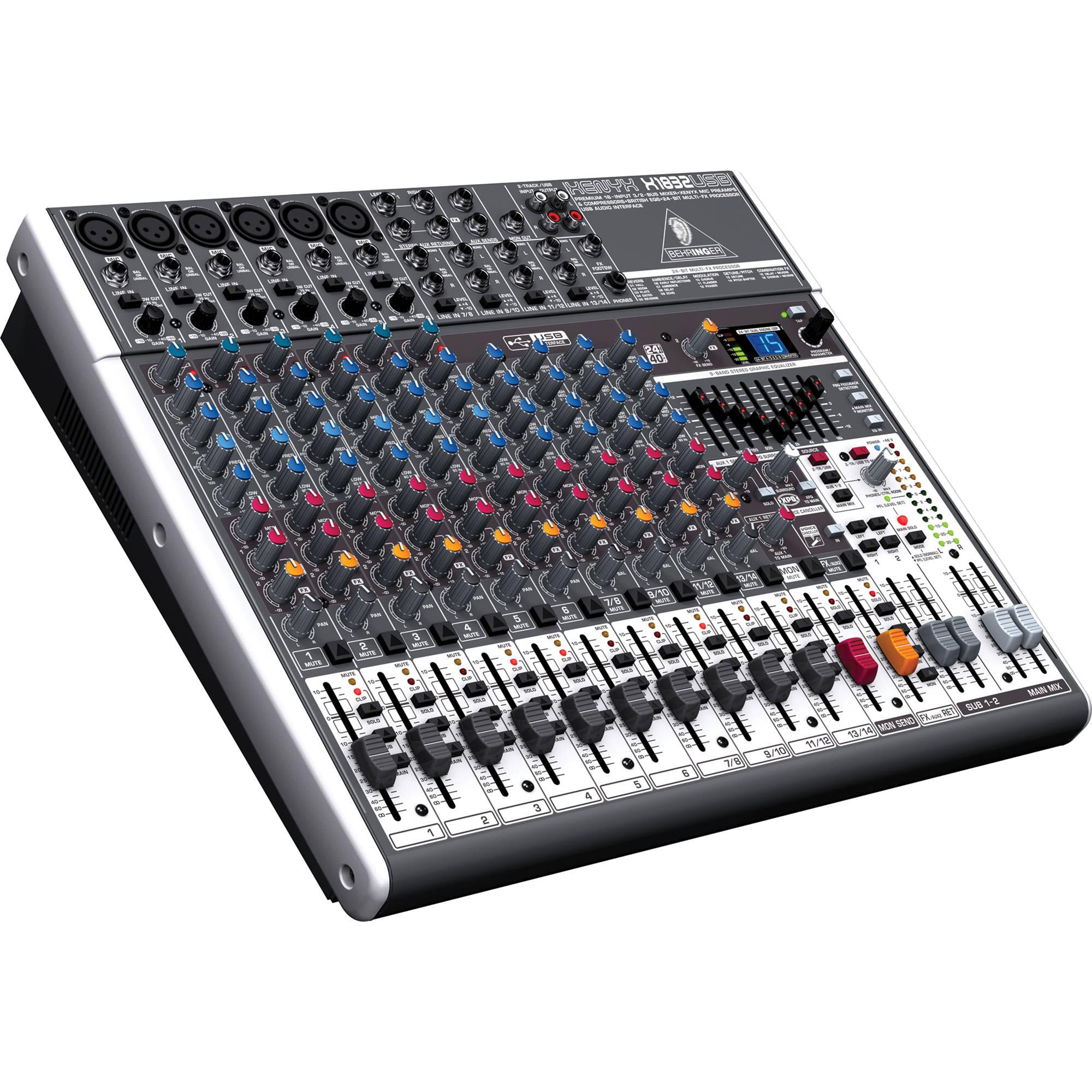 behringer xenyx x1832usb 18 input usb audio mixer x1832usb b h rh bhphotovideo com
