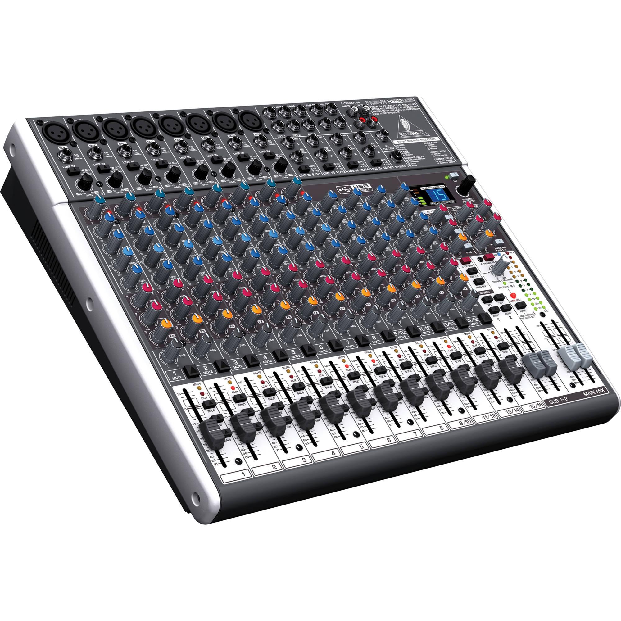 Behringer XENYX X2222USB - 22-Input USB Audio Mixer ...