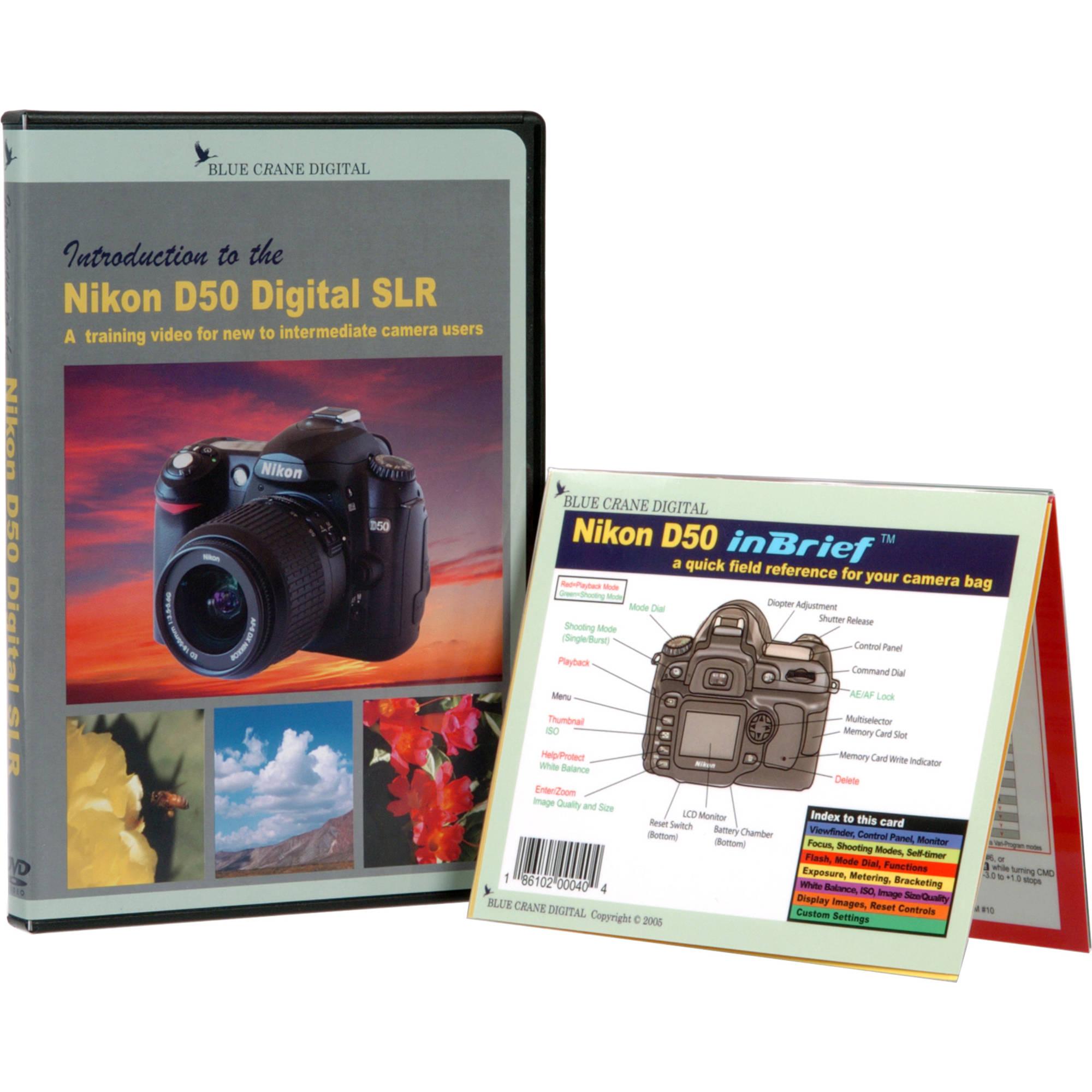 Blue Crane Digital DVD and Guide: Combo Pack for the Nikon D50 Digital SLR  Camera