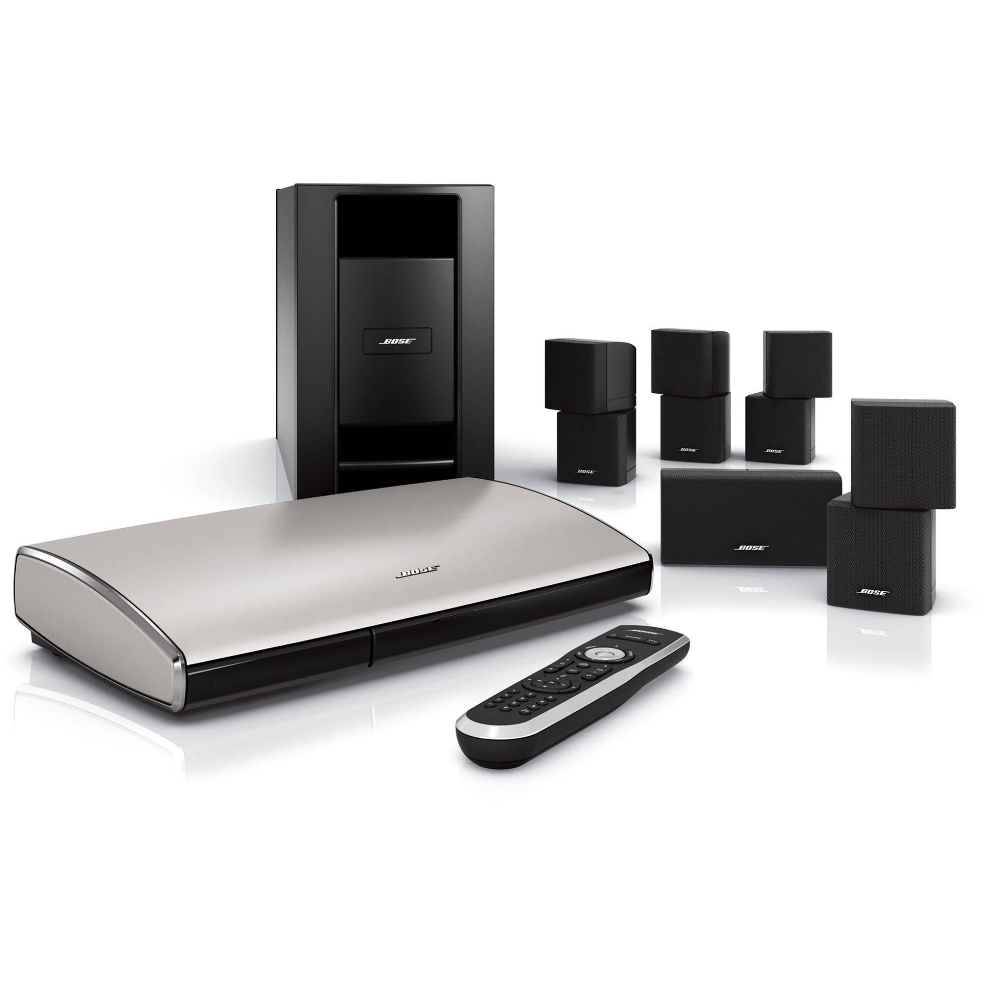 bose lifestyle t20 home theater system black 318043 1100 b h. Black Bedroom Furniture Sets. Home Design Ideas