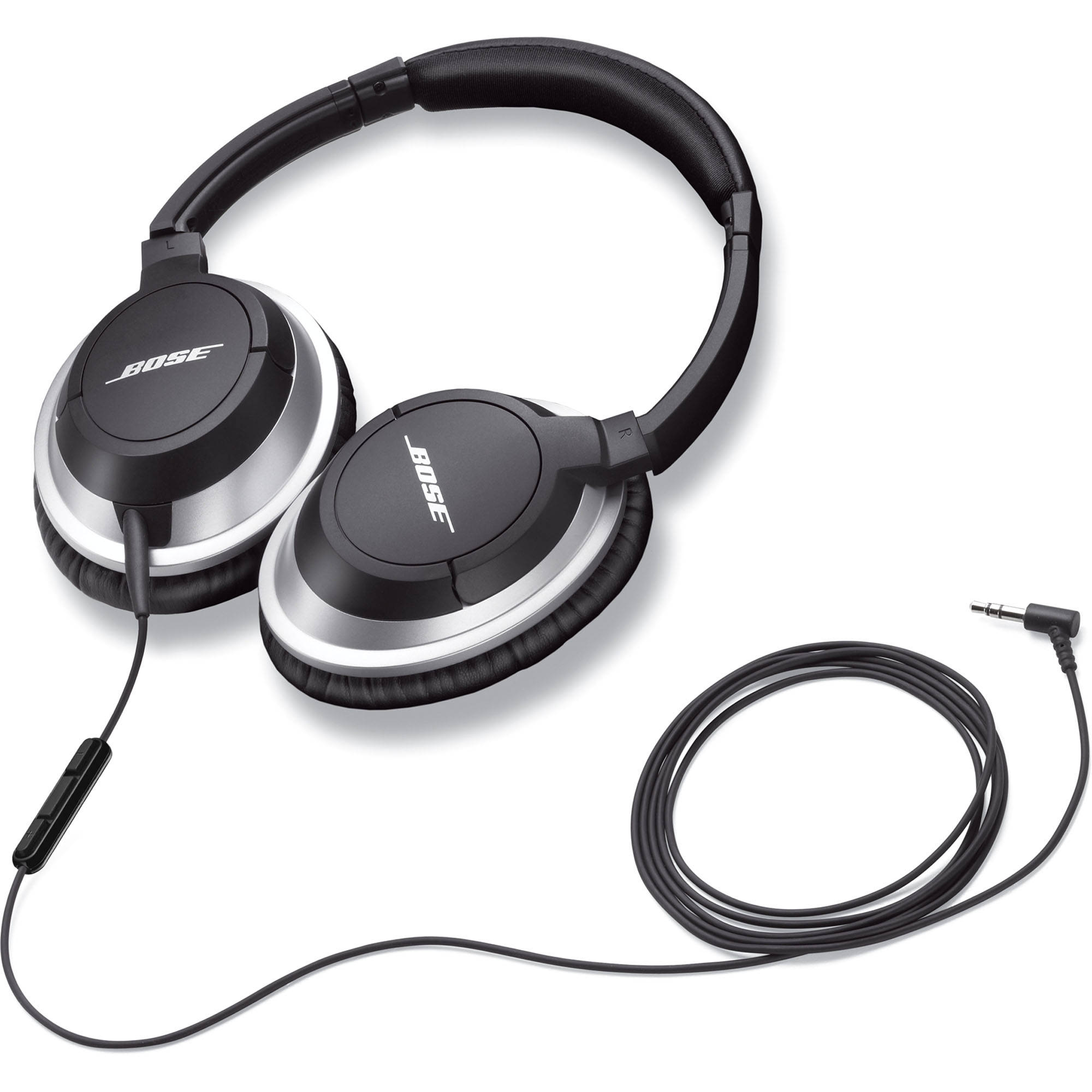 Bose AE2i Around-Ear Audio Headphones with Mic and Remote (Black)