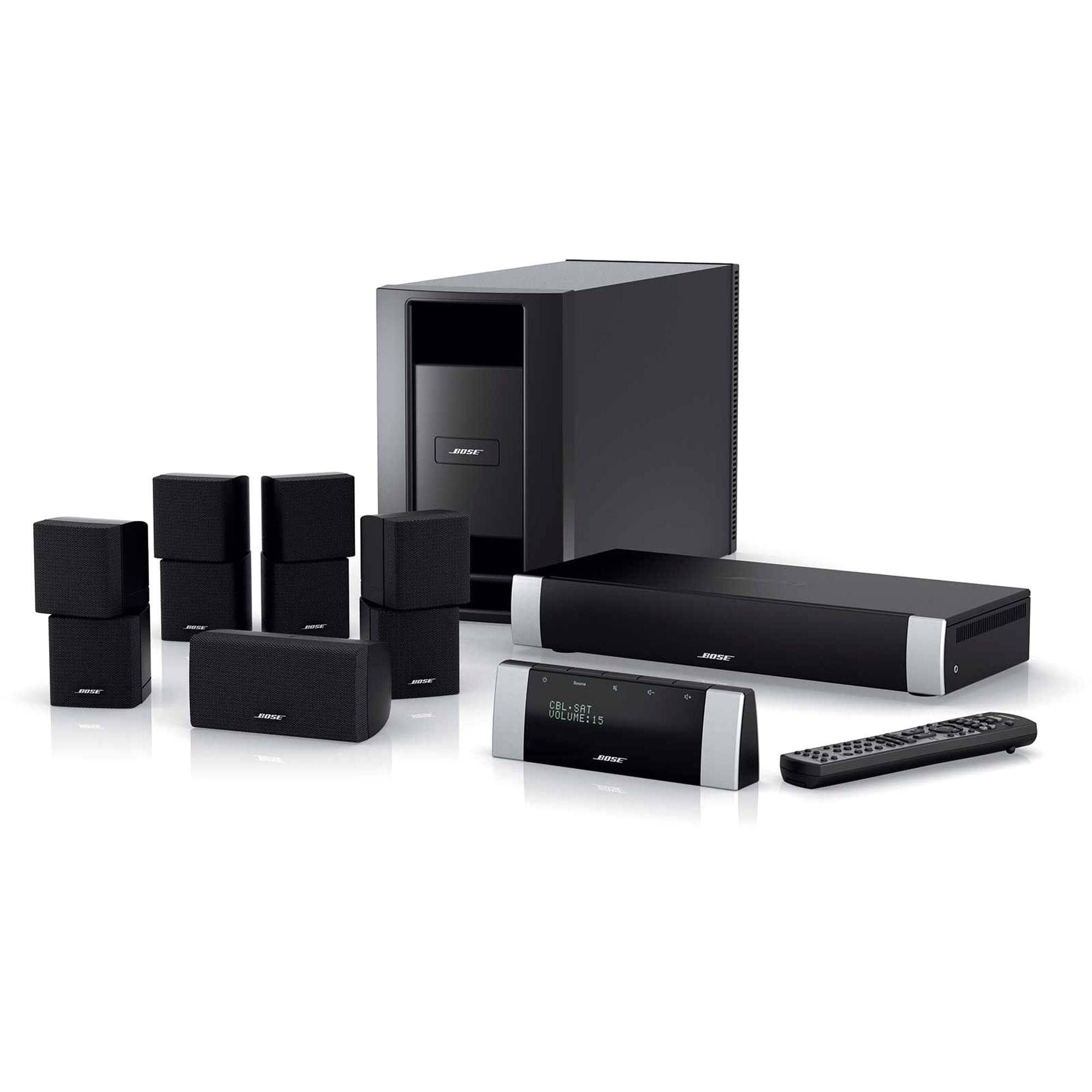 bose lifestyle v20 home theater system black 41793 b h photo. Black Bedroom Furniture Sets. Home Design Ideas