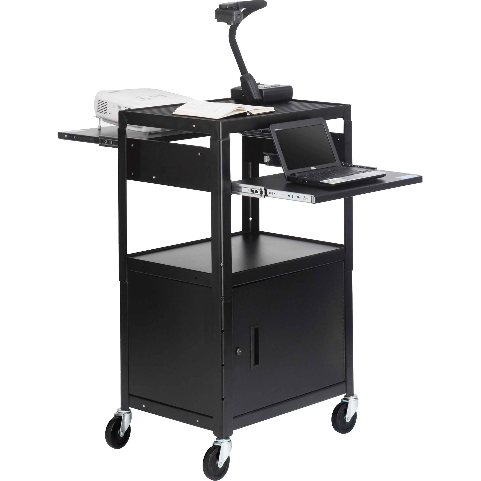 shown with optional accessories - Av Cart