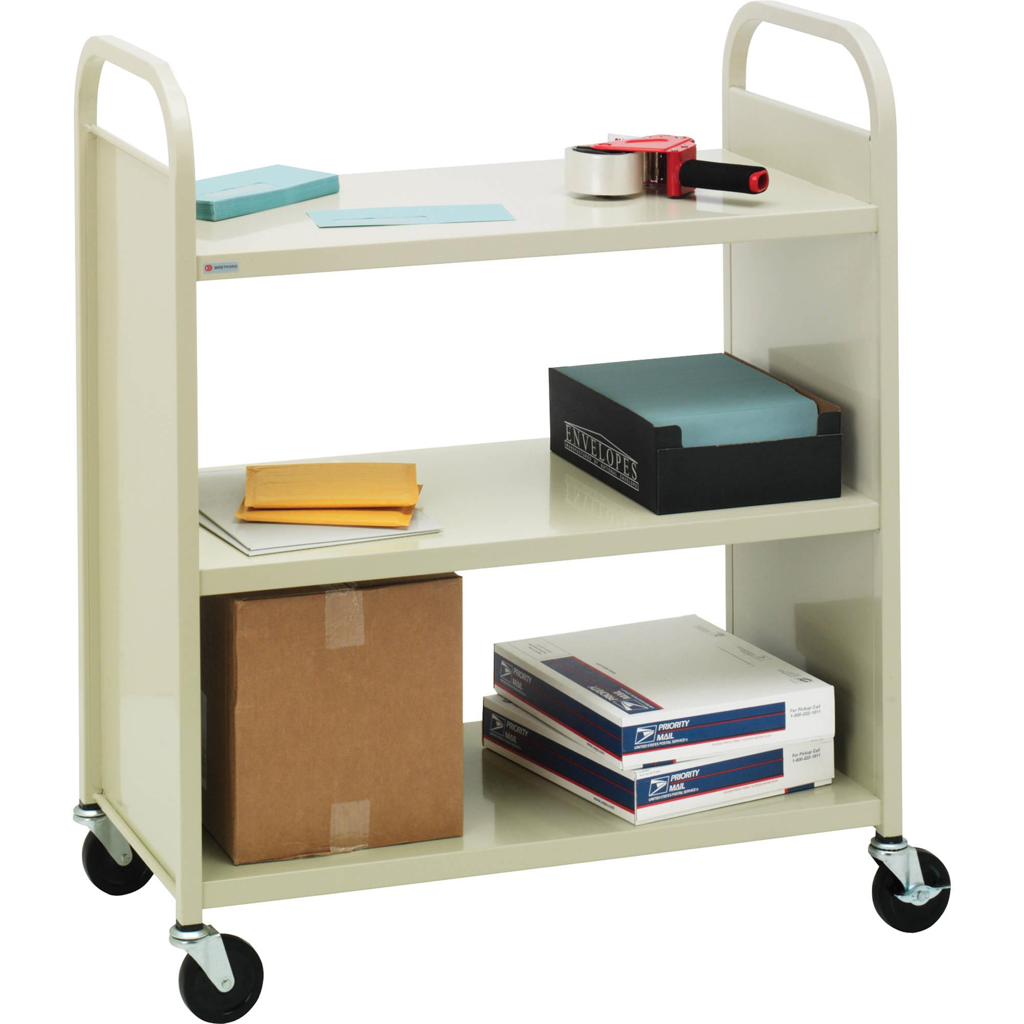 Bretford Mobile Flat Shelf Book Utility Truck F336 Gm5 B H
