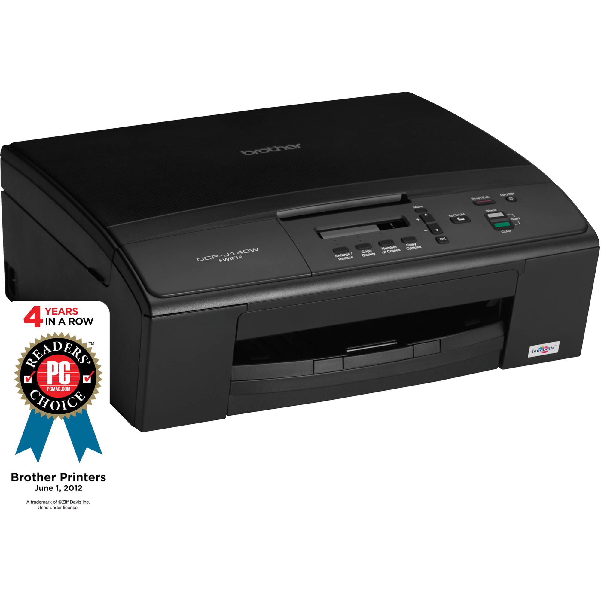 Brother DCP-J140W Wireless Color All-in-One Inkjet Printer