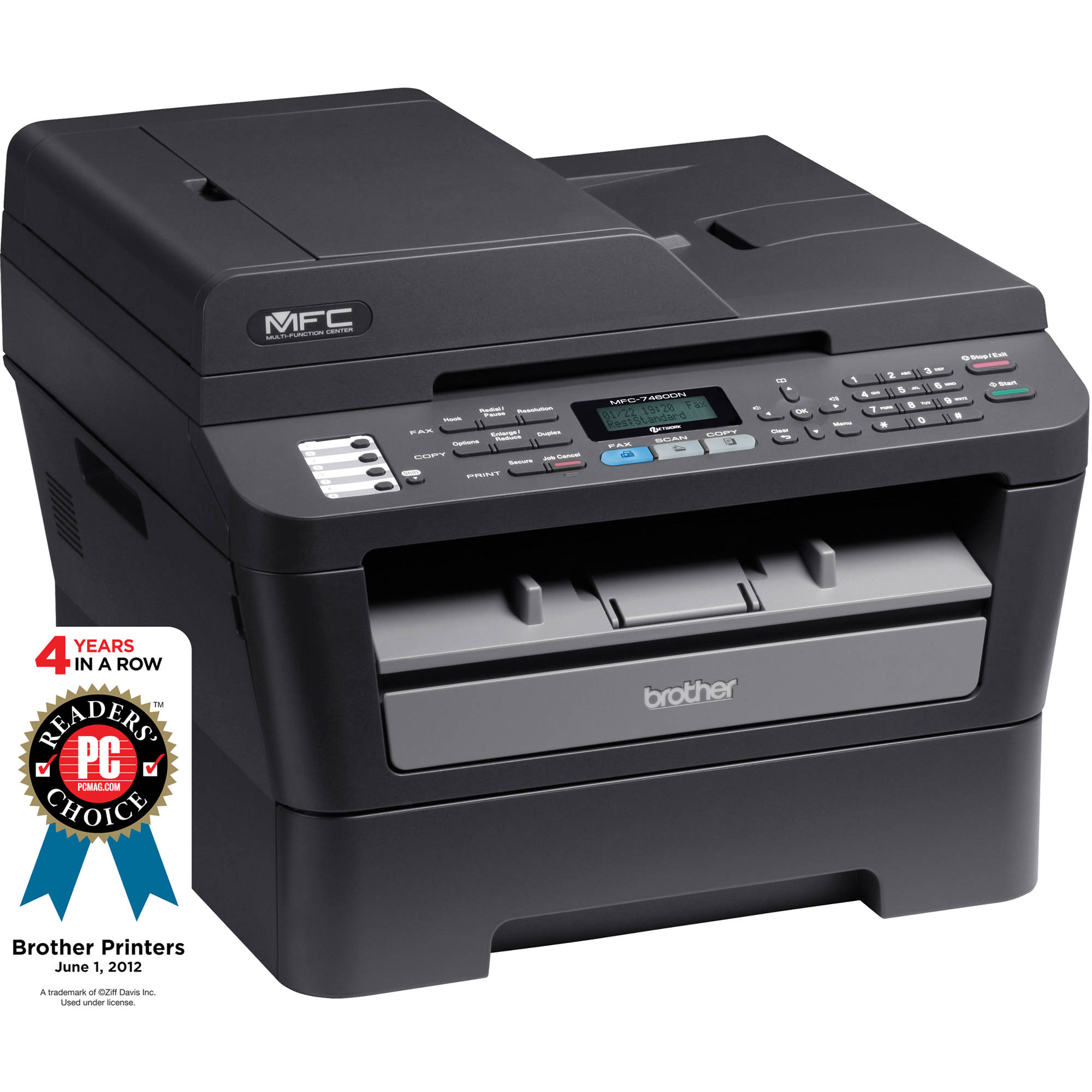 Brother MFC-7460DN Network Monochrome All-in-One MFC-7460DN B\u0026H