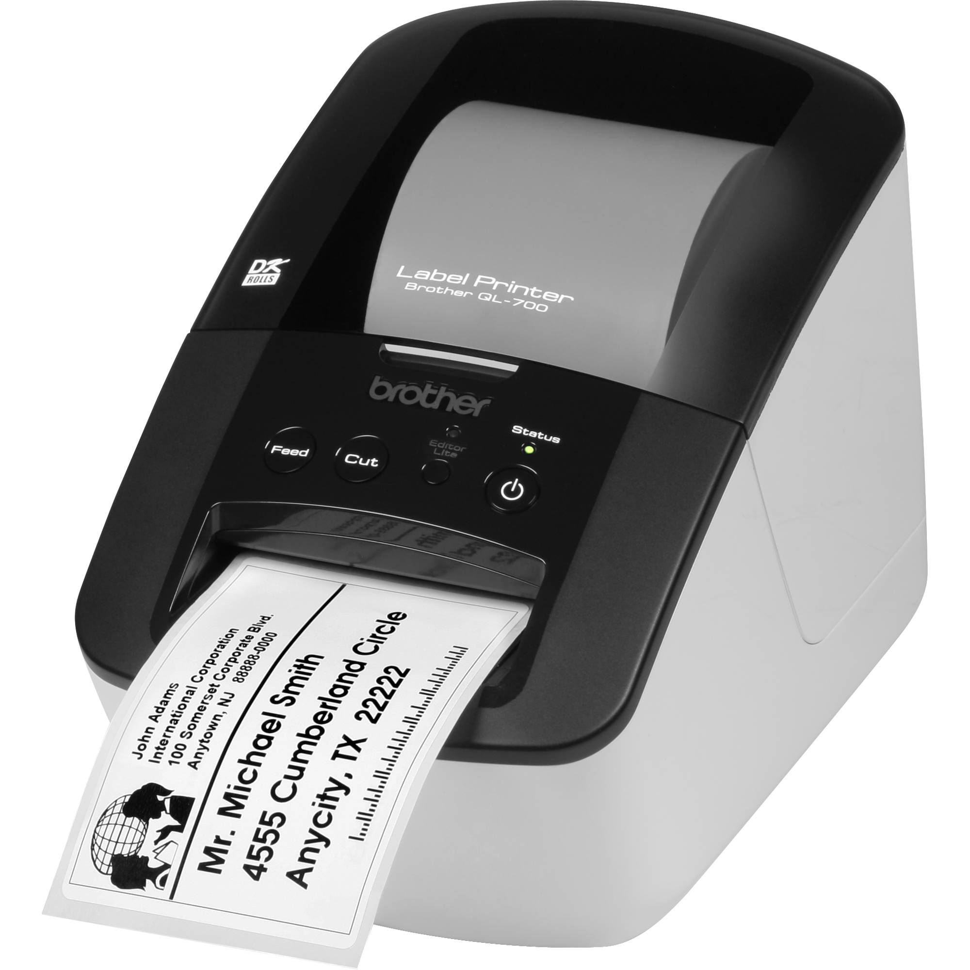 Brother ql 700 high speed professional label printer ql for Brother label printer templates