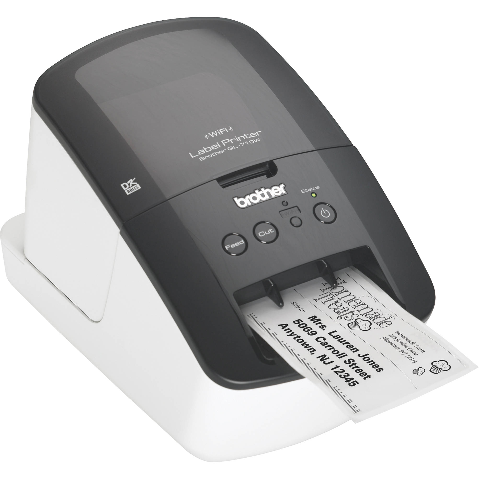 brother label printer templates - brother ql 710w high speed label printer w wireless ql