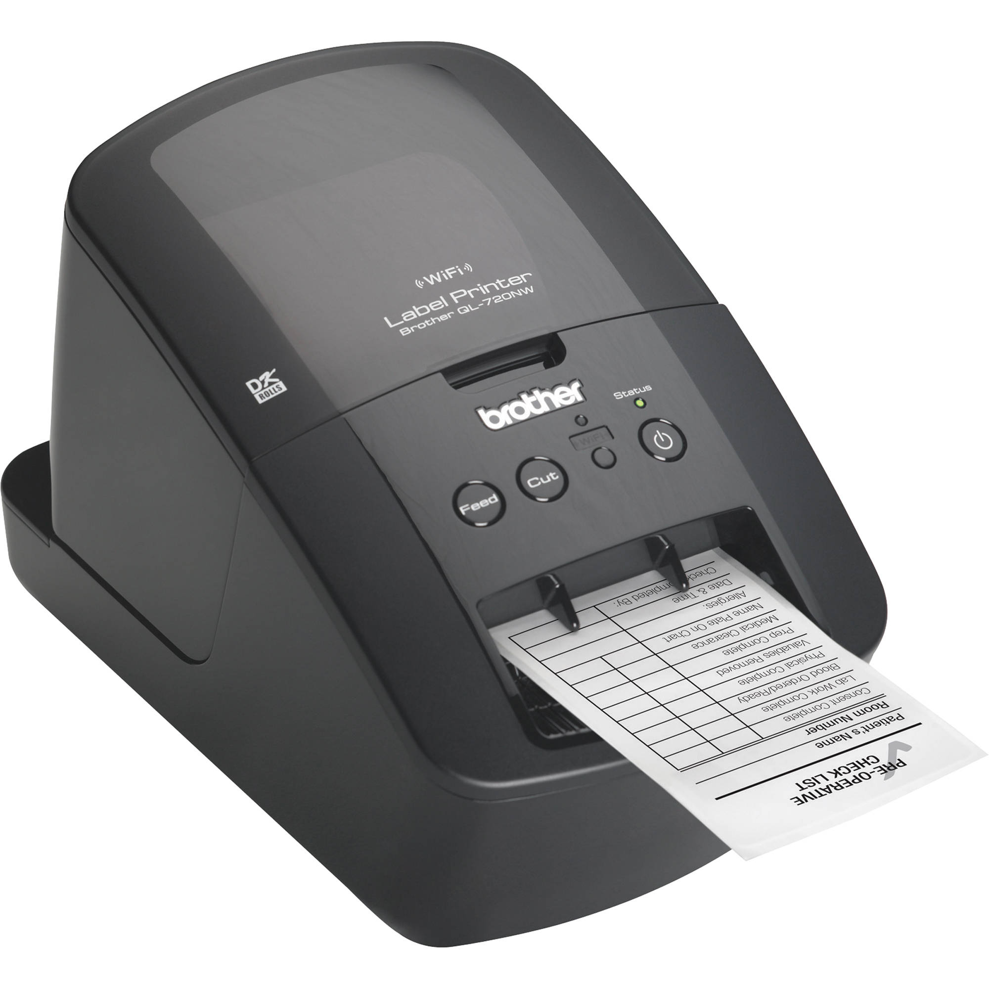 brother ql 720nw high speed label printer w ethernet ql 720nw. Black Bedroom Furniture Sets. Home Design Ideas