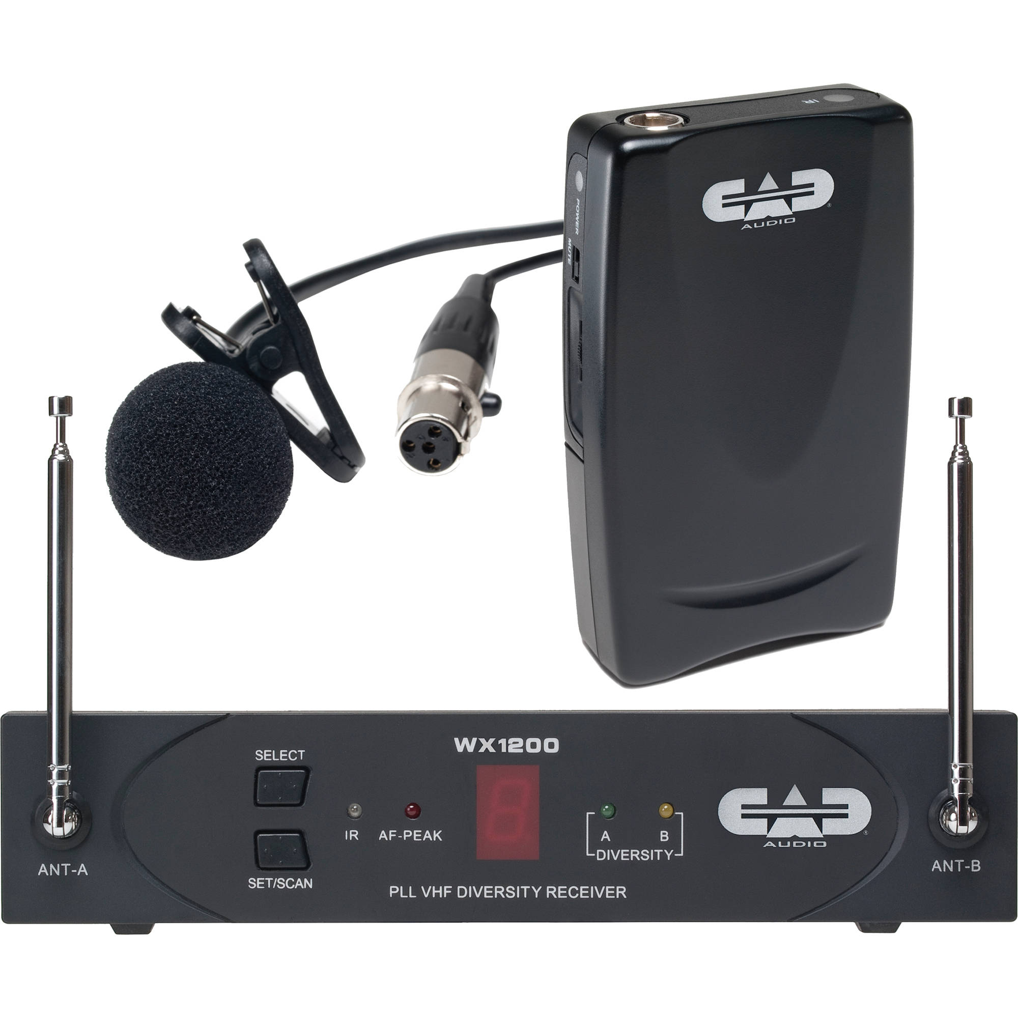 cad stagepass wx1210lav wireless lavalier microphone wx1210lav. Black Bedroom Furniture Sets. Home Design Ideas