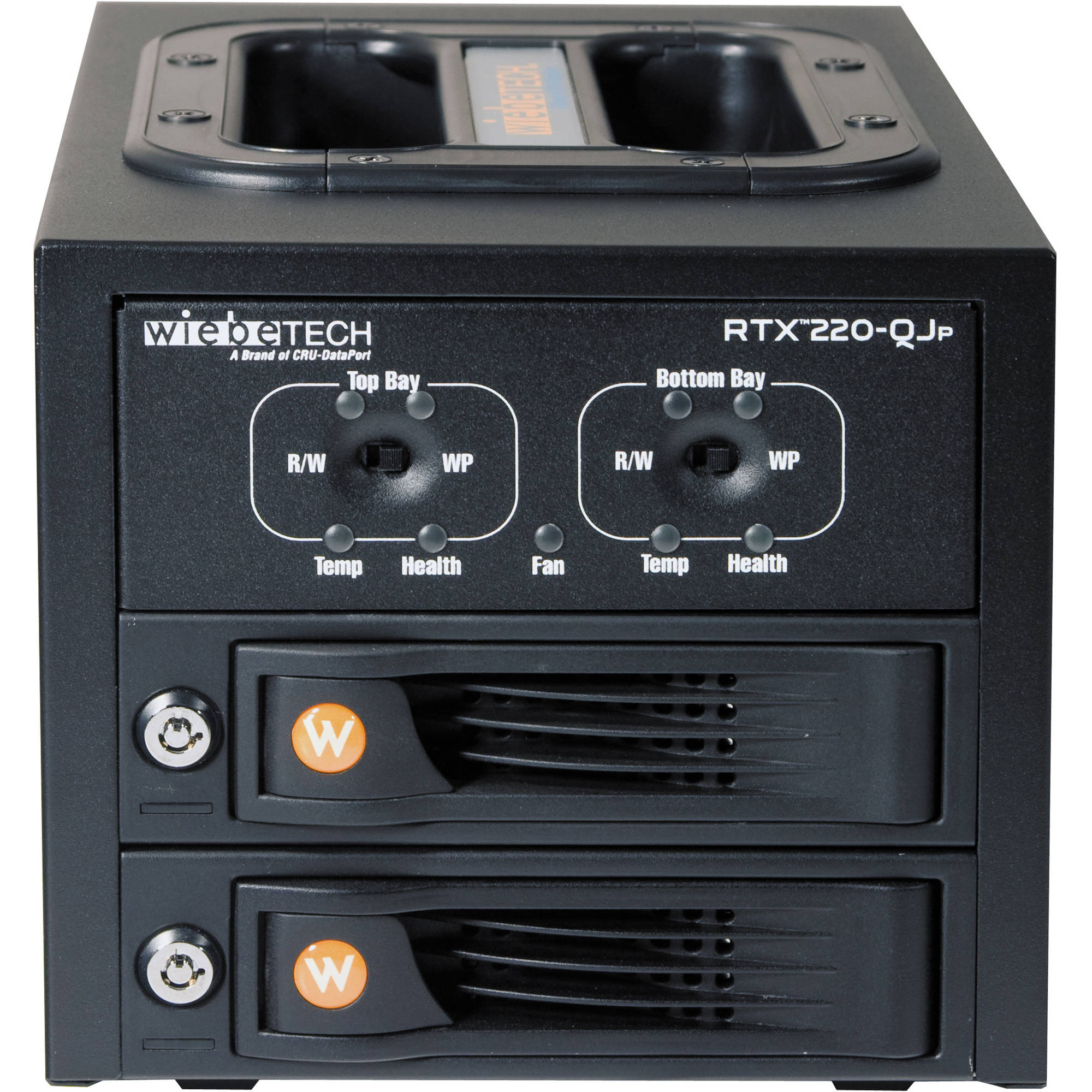 CRU-DataPort RTX220-QJP 2 TrayFree SATA Hard 35220-2530-0001 B\u0026H