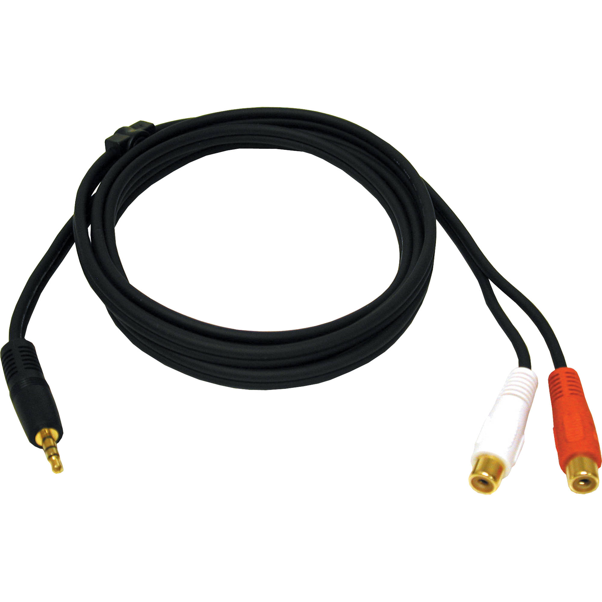 C2G 6\' One 3.5mm Stereo Male to Two RCA Stereo Female 40425 B&H