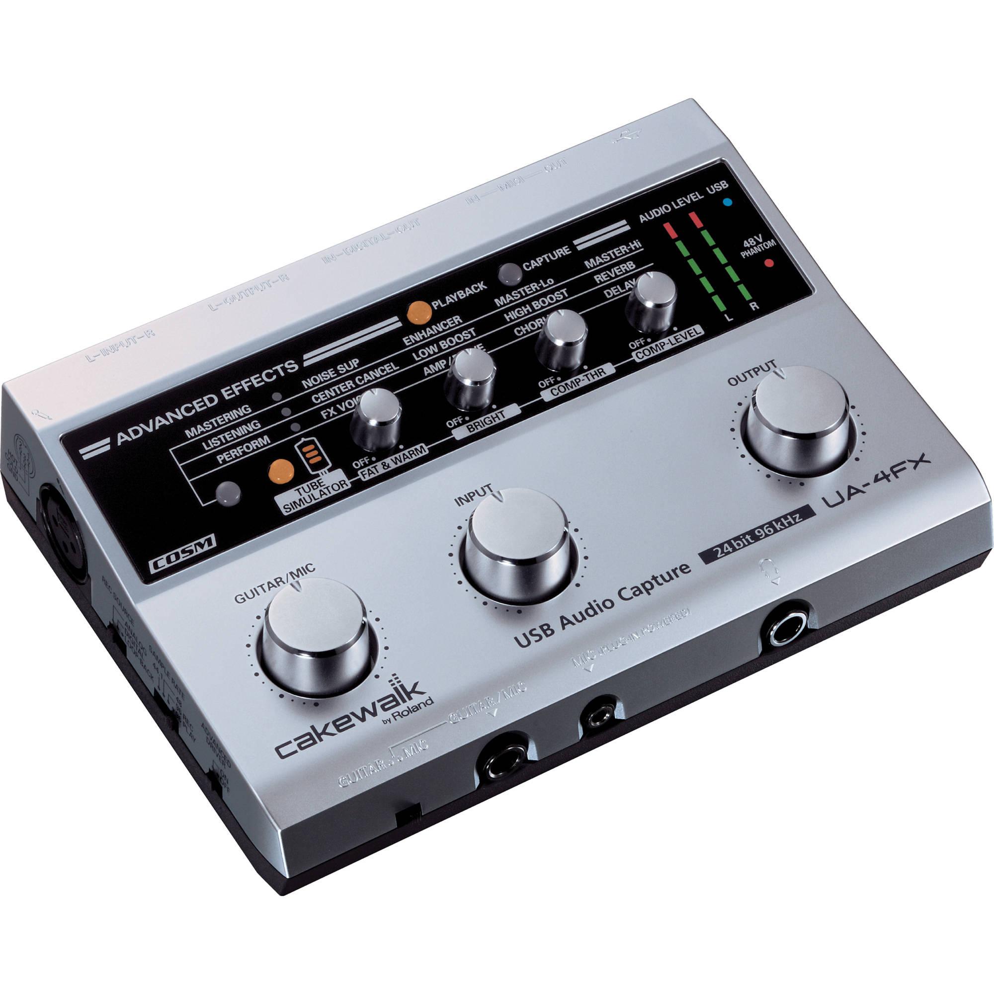 roland ua 4fx 2 x 2 usb audio midi interface ua 4fxcw. Black Bedroom Furniture Sets. Home Design Ideas