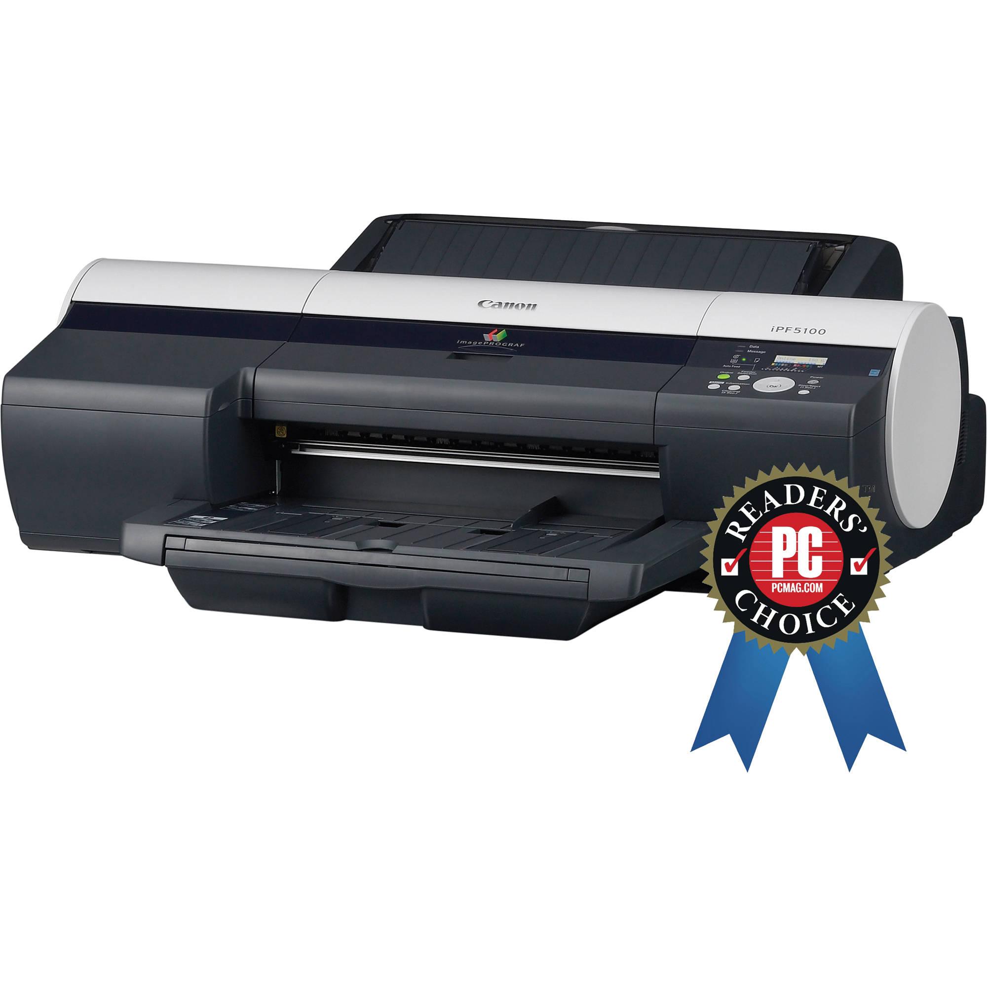Canon Imageprograf Ipf5100 Large Format Printer 2157b002ba B Amp H