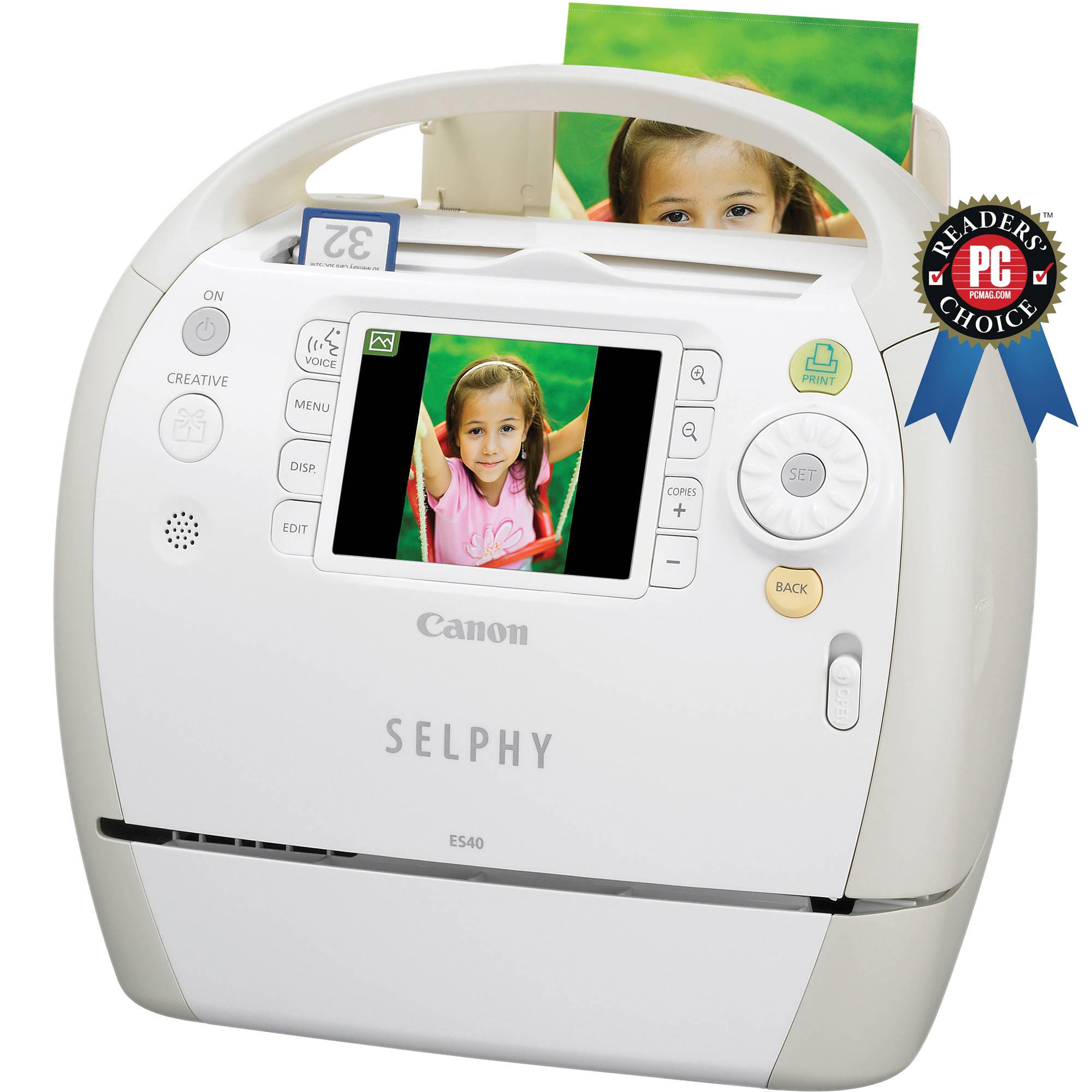 Canon Selphy ES40 Compact Photo Printer 3647B001 BampH Photo