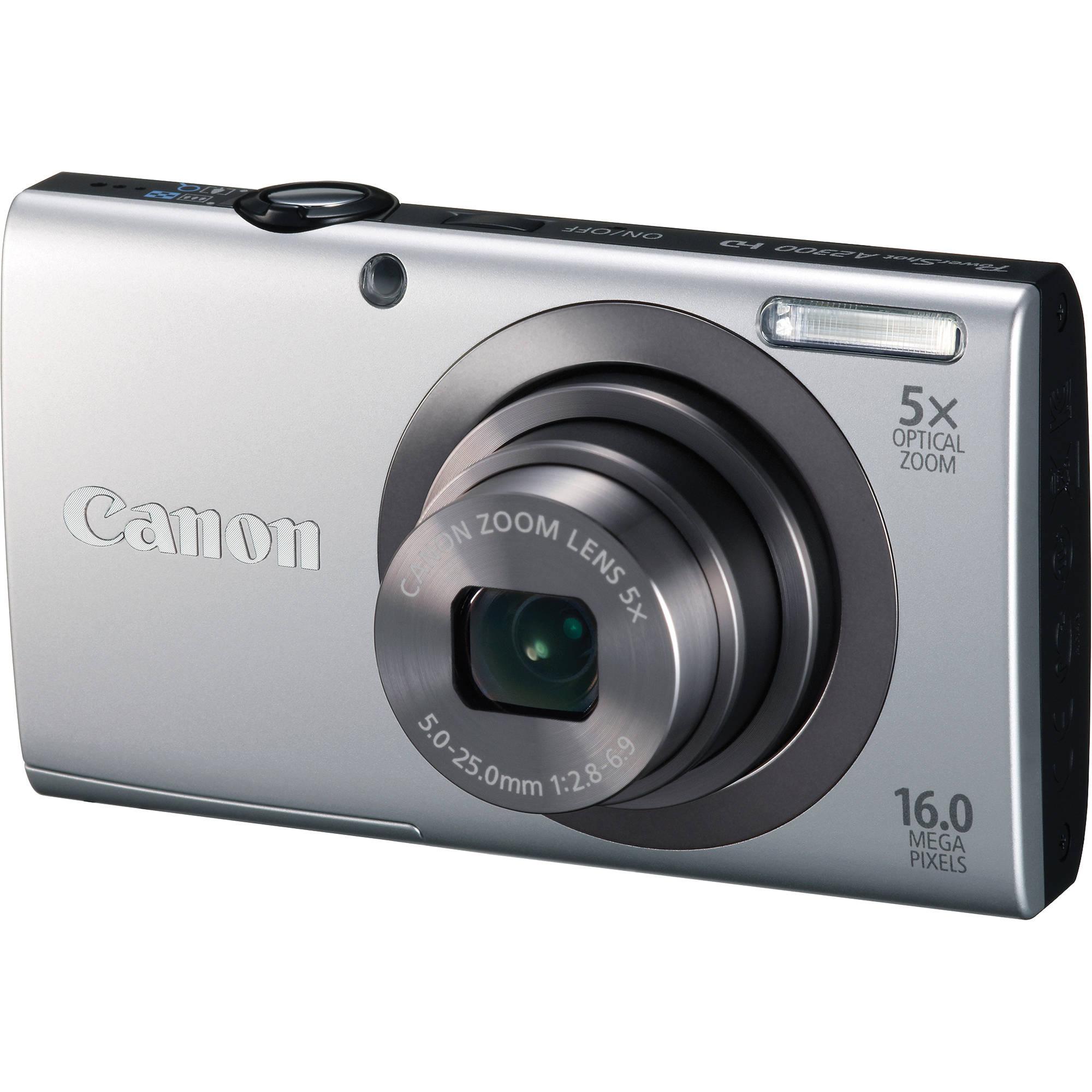 Canon PowerShot A2300 Digital Camera (Silver) 6184B001 B&H ...