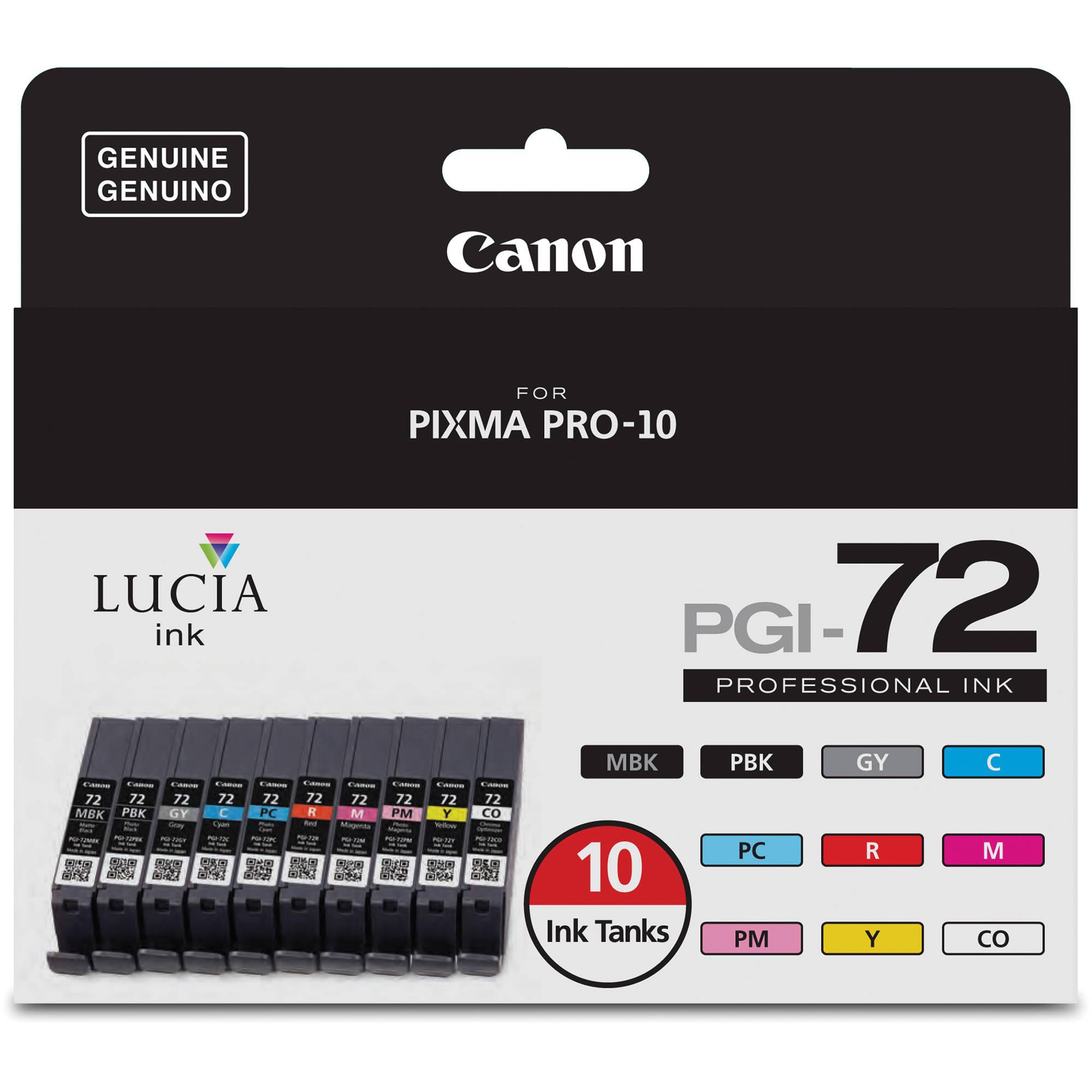 FULL SET 10 x Canon PGI-72 Compatible Ink Cartridge 72 Ink Canon Pixma Pro 10