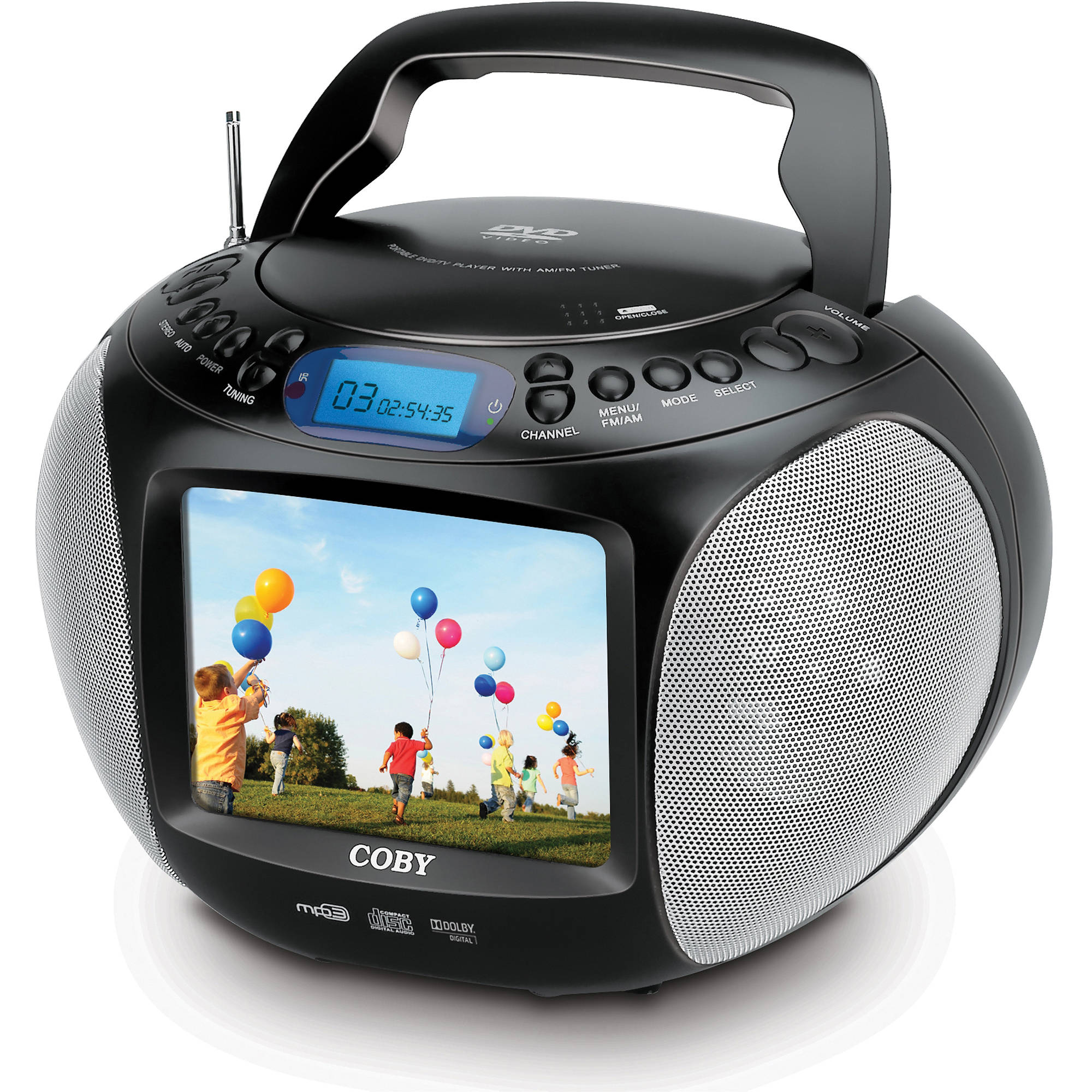 coby tfdvd577 5 6 portable dvd cd mp3 player w tfdvd577. Black Bedroom Furniture Sets. Home Design Ideas