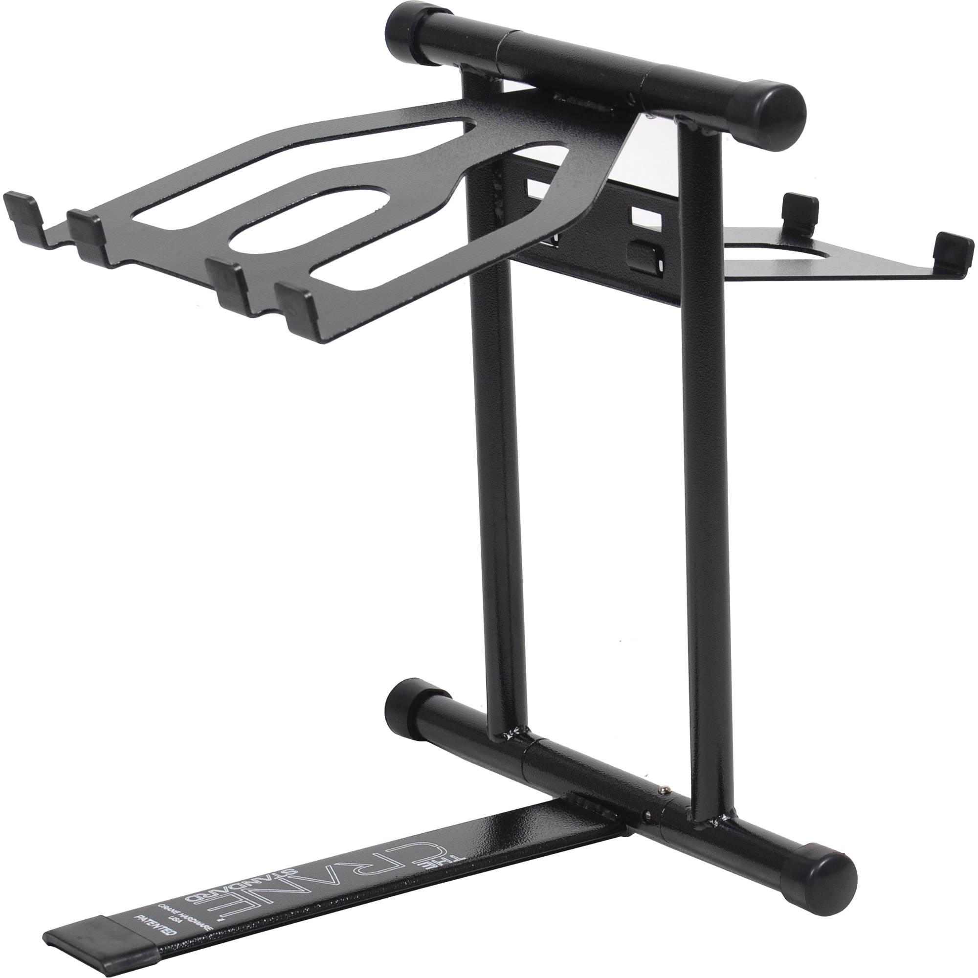 crane hardware standard laptop stand black standbasic b h. Black Bedroom Furniture Sets. Home Design Ideas