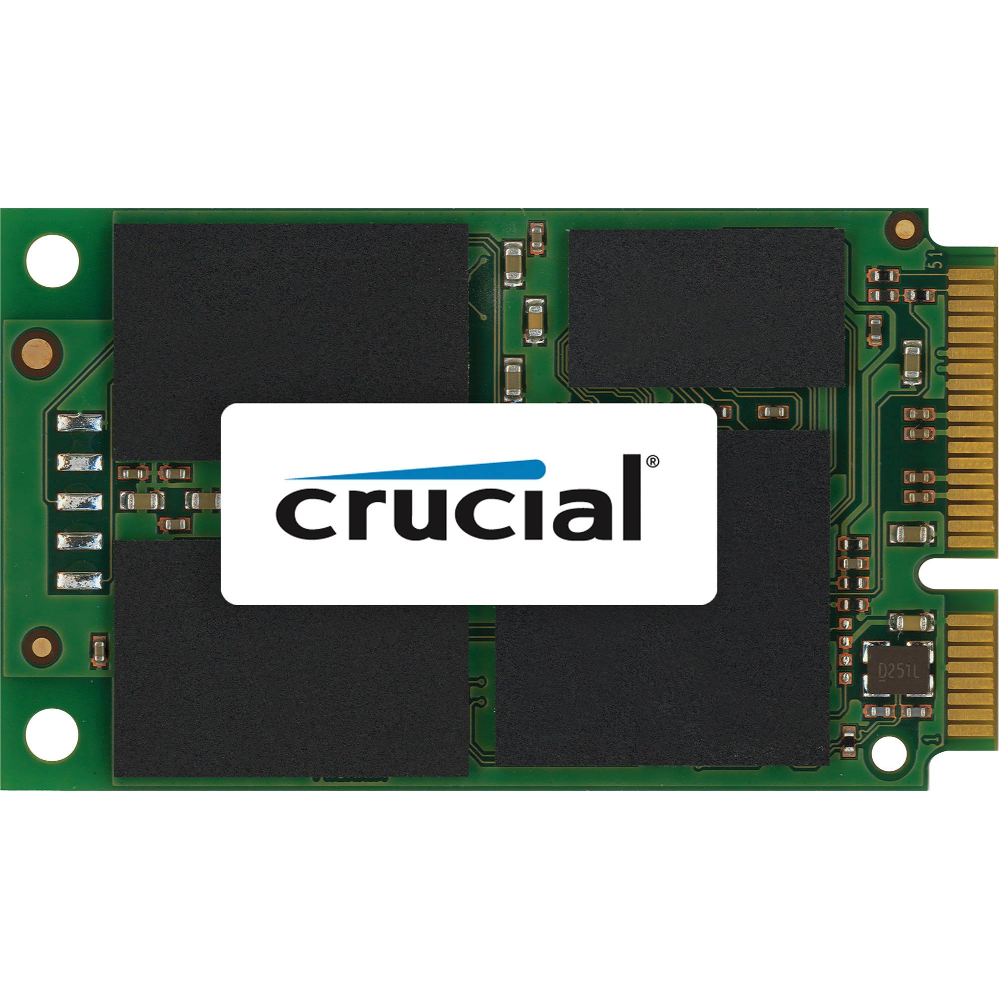 Crucial 256GB m4 mSATA 6Gb/s Solid State Drive CT256M4SSD3 B&H