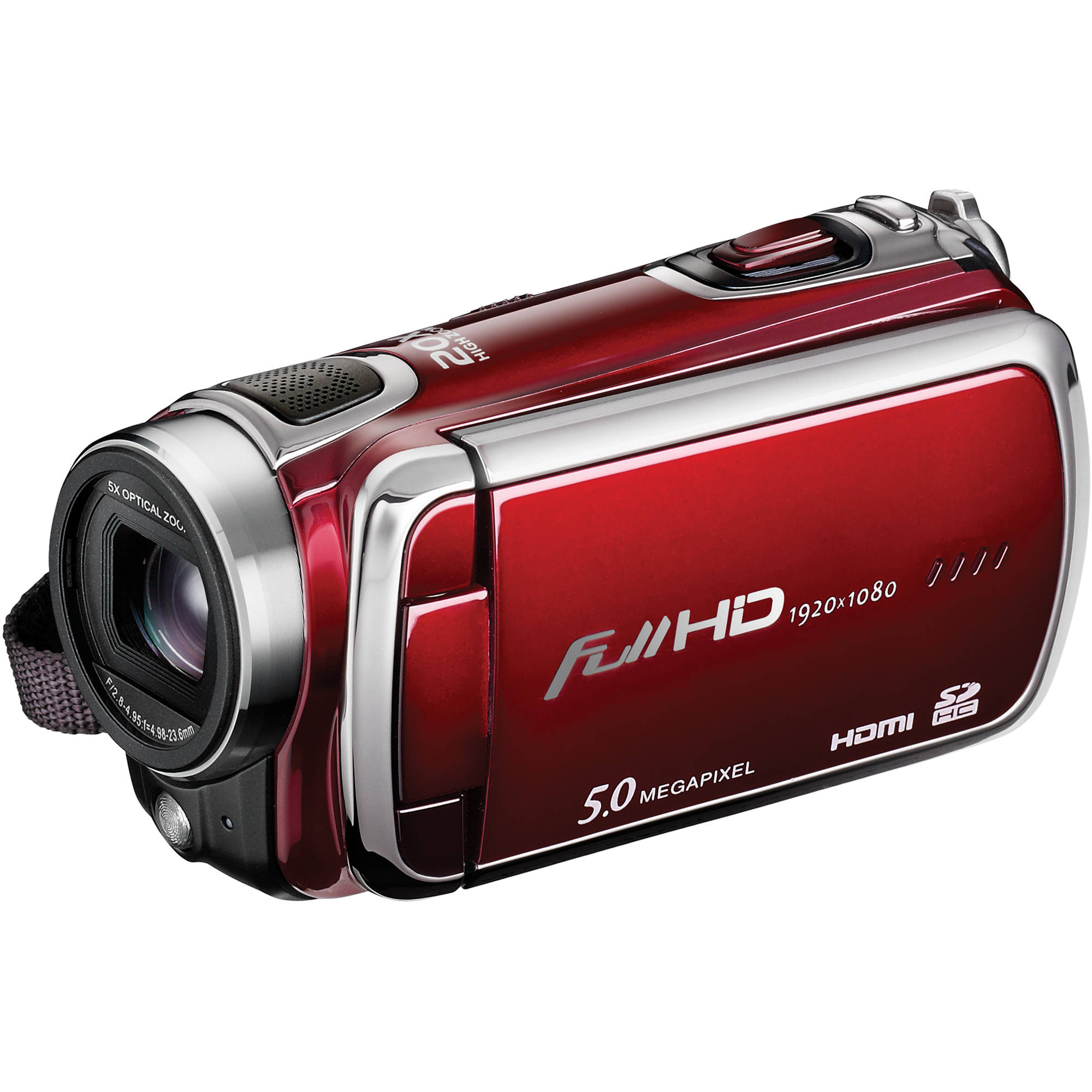 DXG Pro Gear Series DXG-5F0VR HD Camcorder (Red)