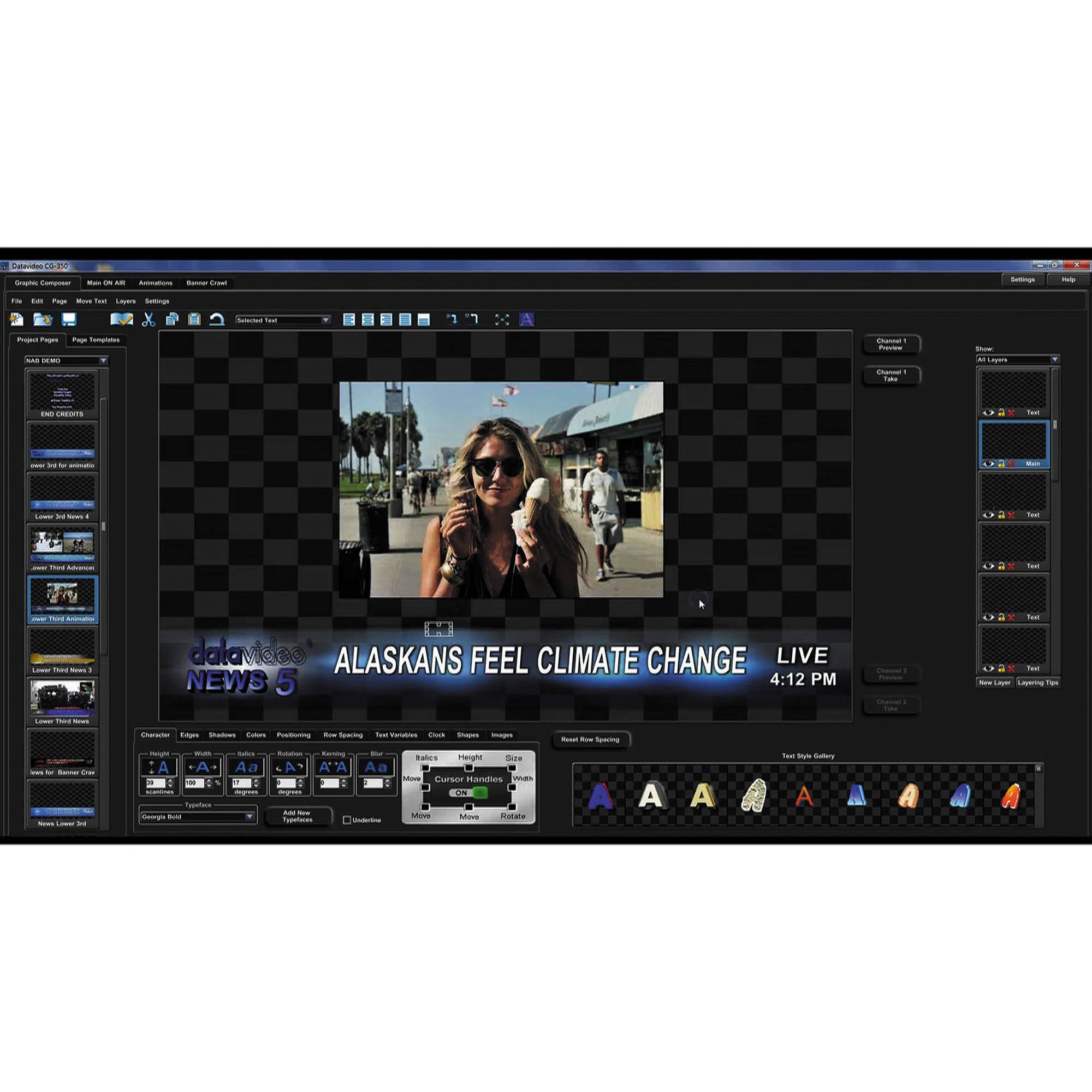 video character generator: