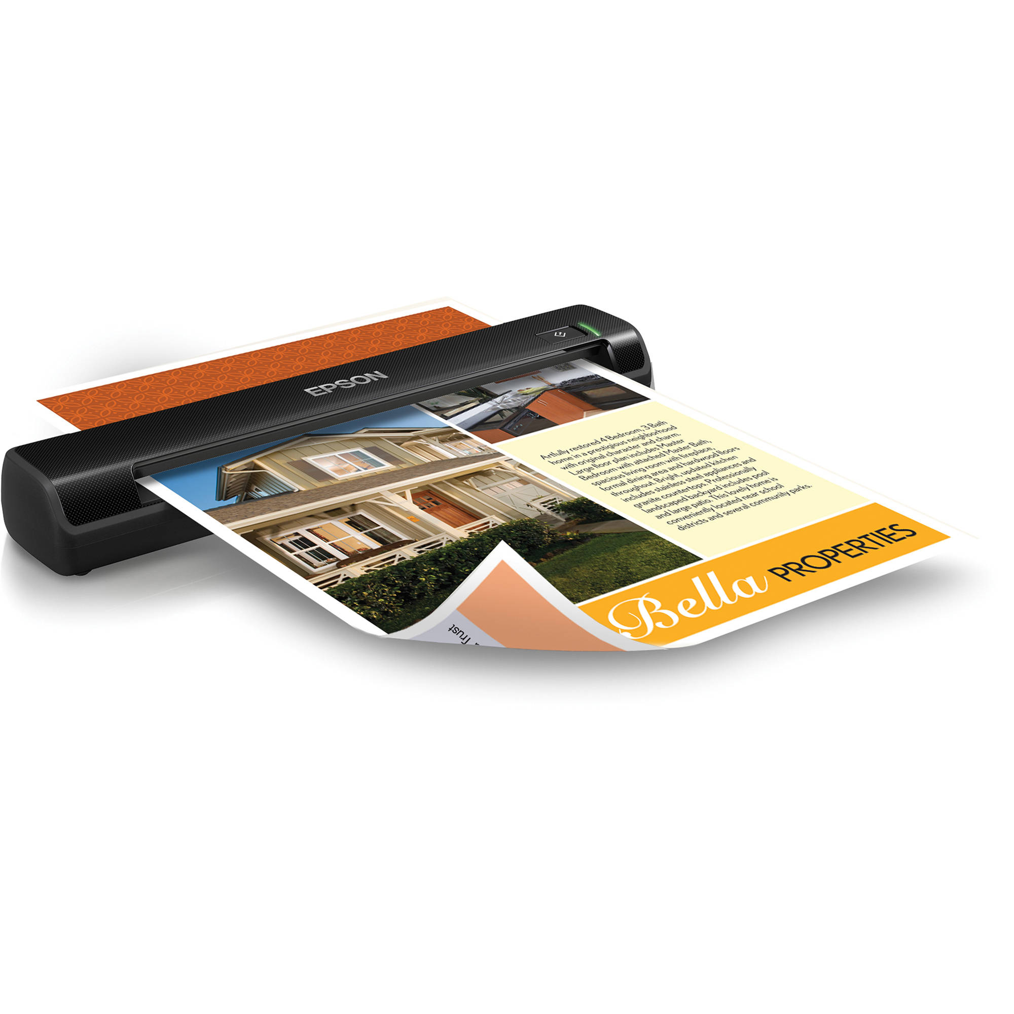 Portable business card scanners bh photo video epson workforce ds 30 portable scanner reheart Images