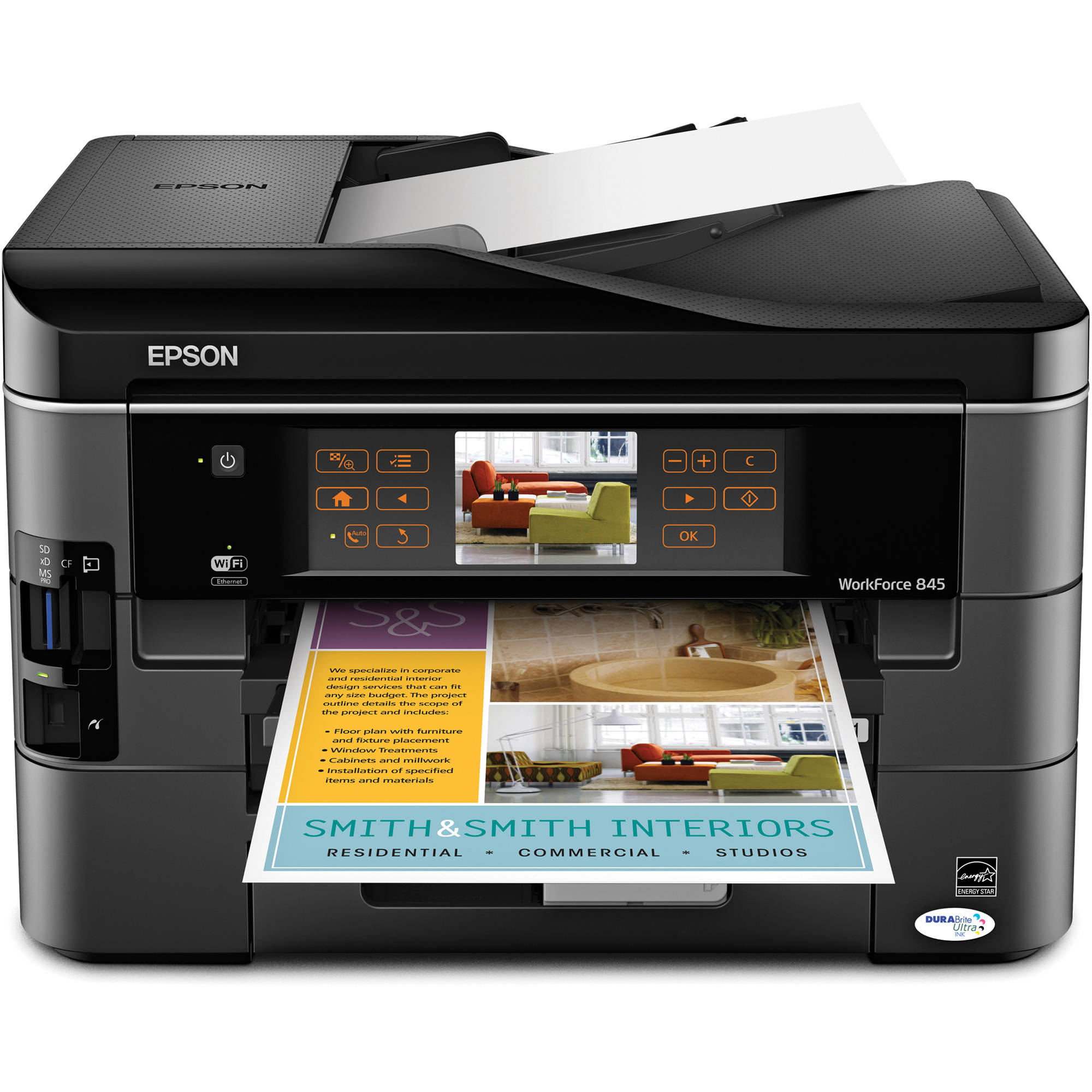 Epson WorkForce 845 All-in-One Color Inkjet Printer