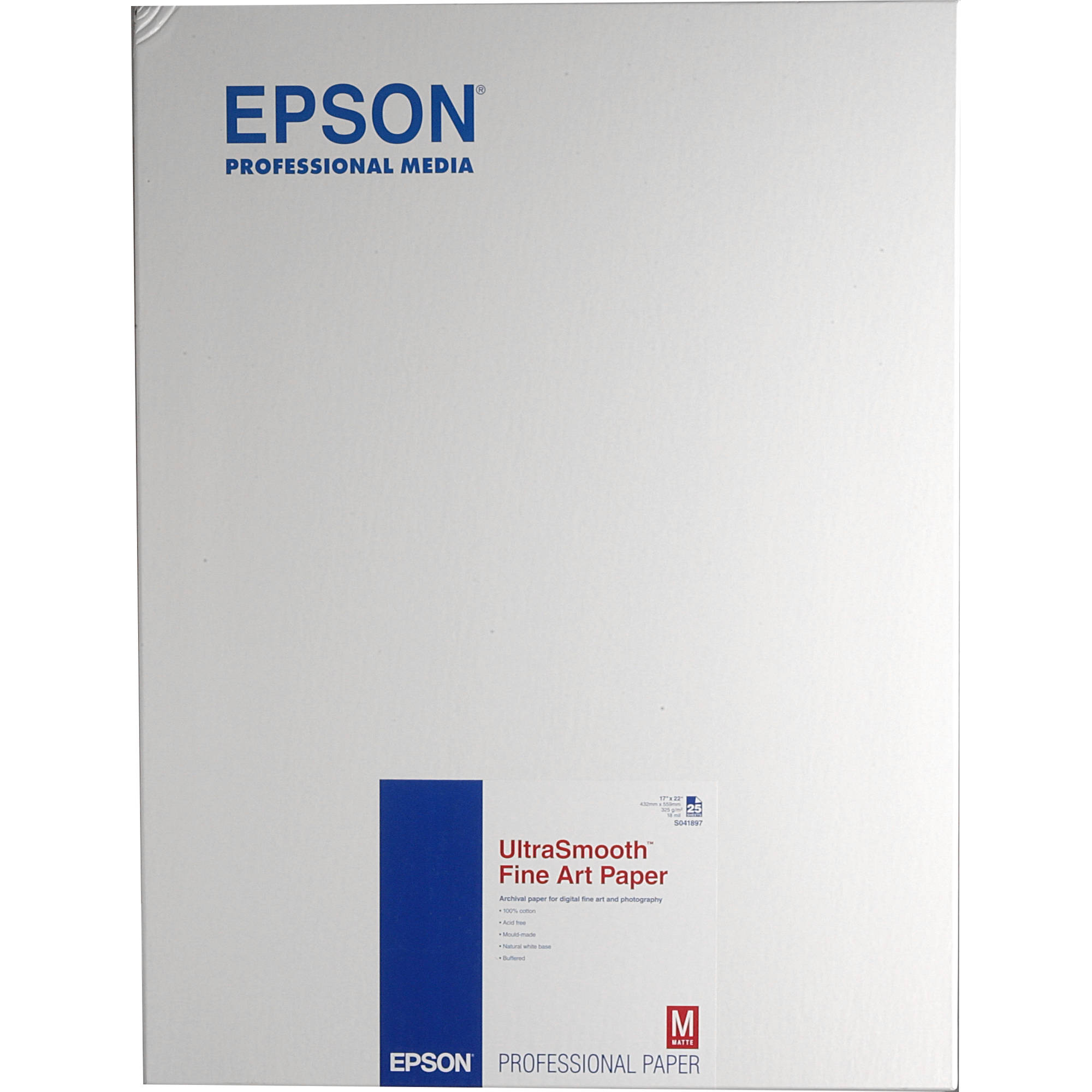 Epson Ultrasmooth Fine Art Paper S041897 B H Photo Video