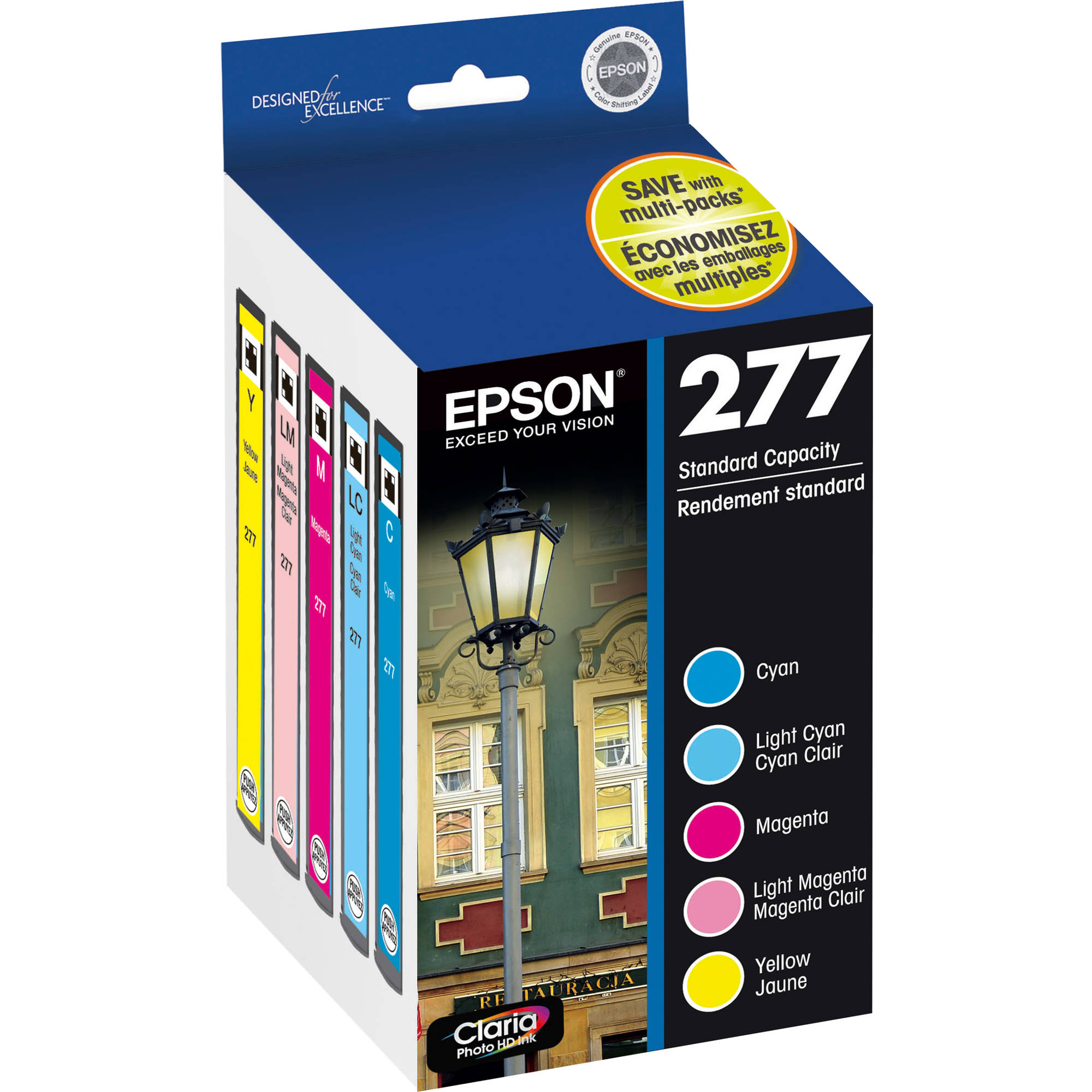Epson 277 Claria Photo Hi Definition Ink Cartridge Multi Pack 5 Colors