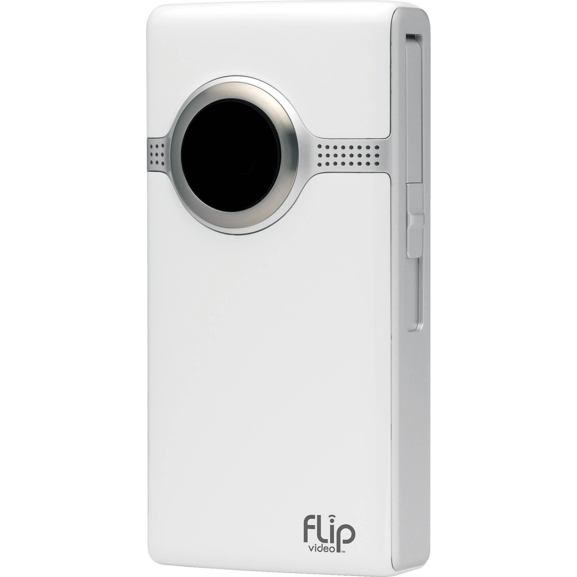 flip video ultrahd video camera white 2 hours u32120w b h rh bhphotovideo com Cisco Flip Ultra HD HD Flip Video Camera