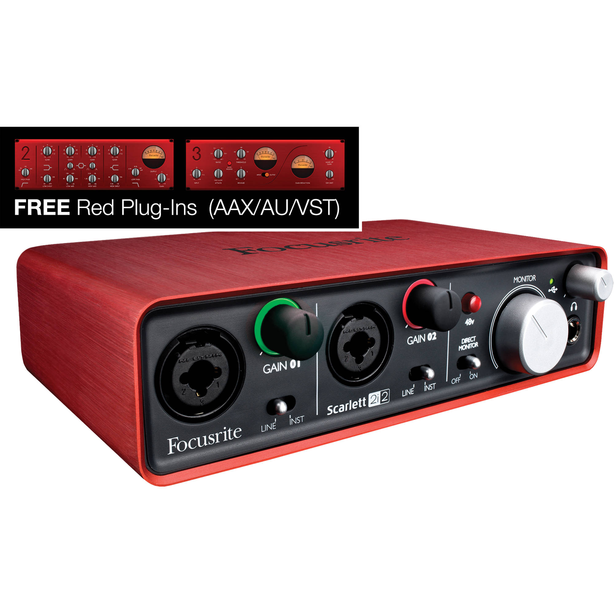 focusrite scarlett 2i2 portable usb audio scarlett 2i2 usb b h