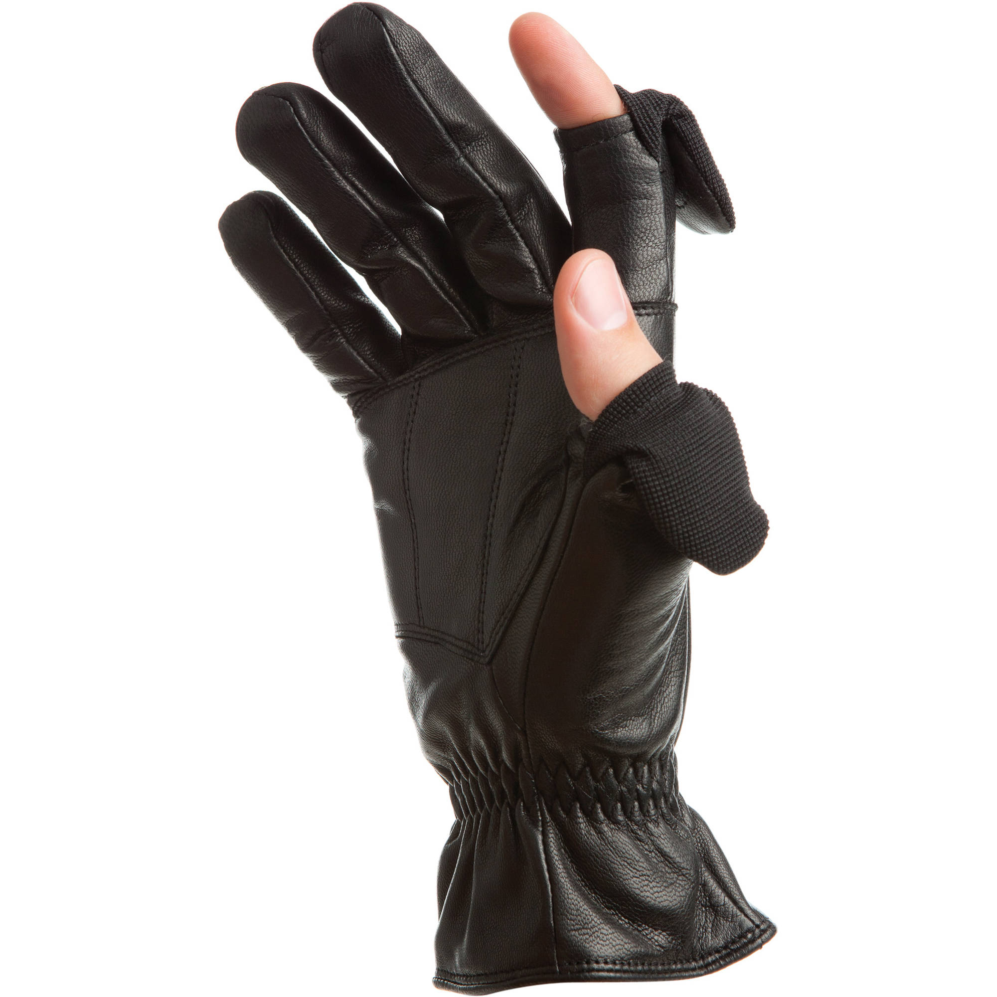 Freehands Men's Leather Gloves (Large, Black) 41011ML B&H ...