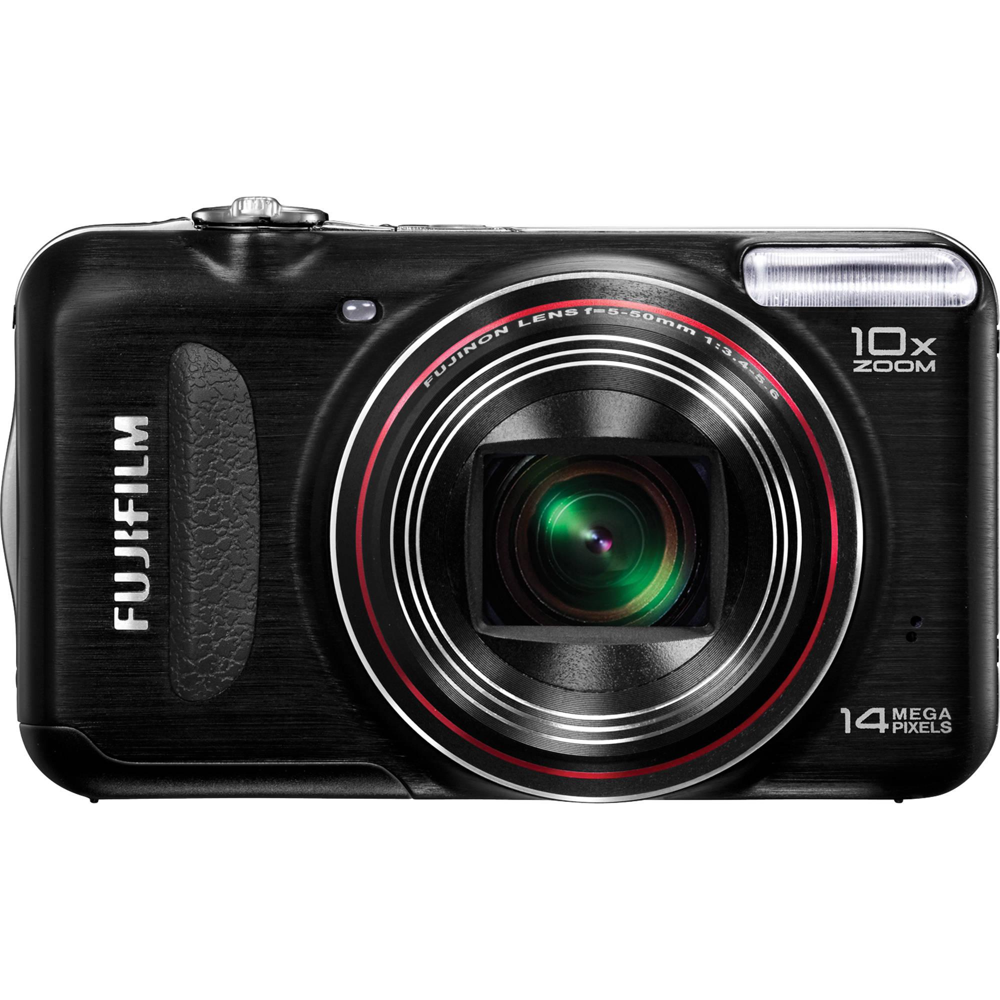 Fuji Digital Cameras: FUJIFILM FinePix T300 14MP Digital Camera (Black) 16131679 B&H
