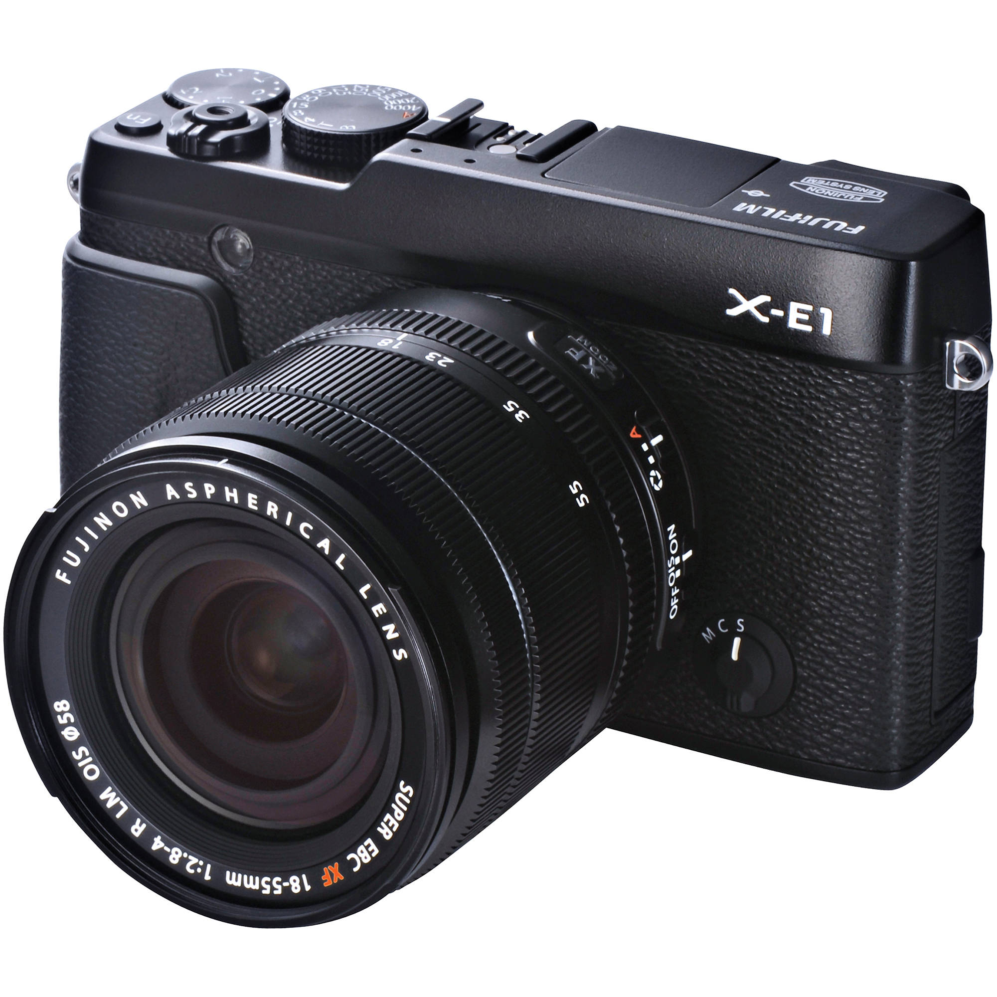 fujifilm x e1 digital camera kit with xf 18 55mm 16276467 b h. Black Bedroom Furniture Sets. Home Design Ideas
