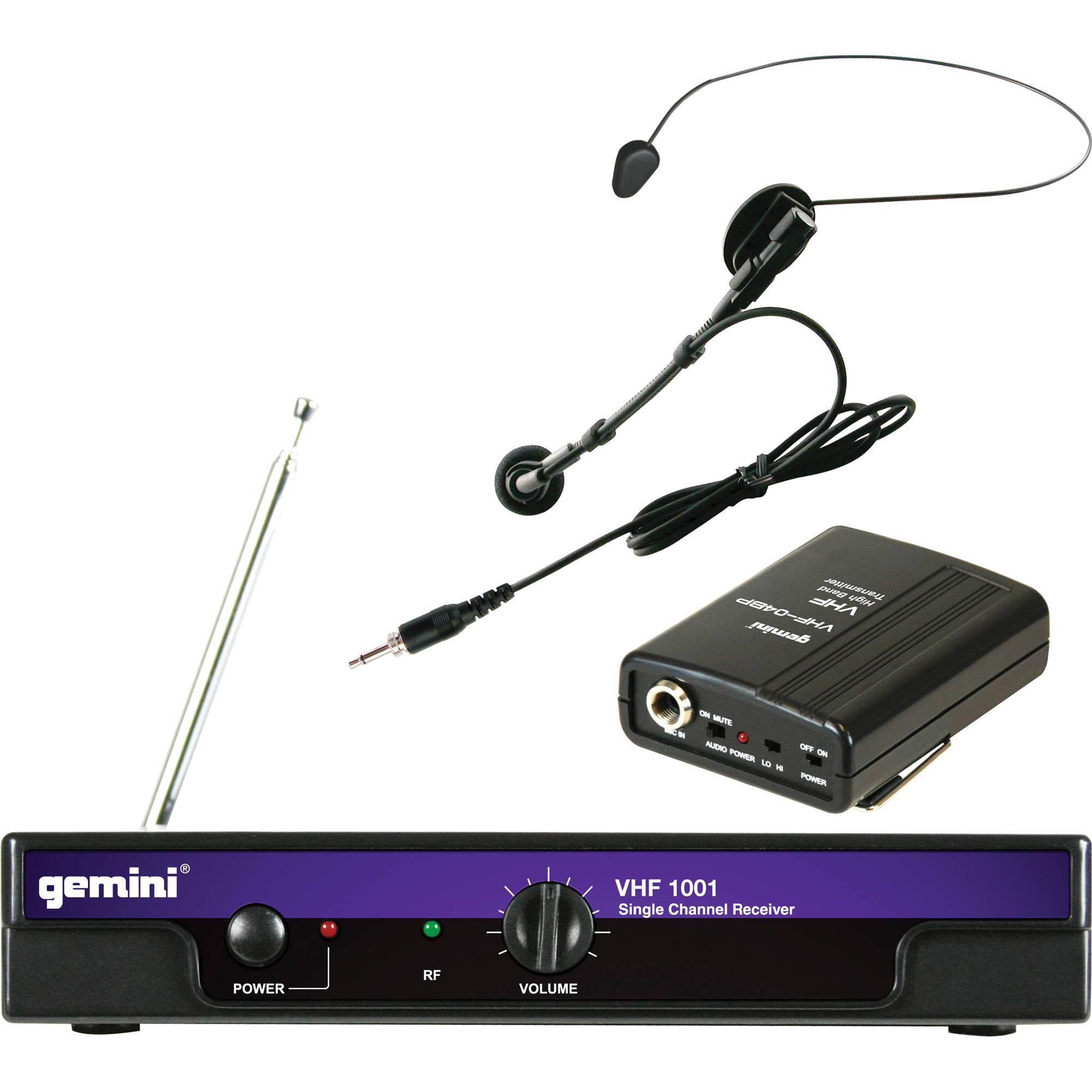 Gimini Wirerless Mic Head Data Wiring Filter 07controls Top Panel 09motor 01cover 10wiring Diagram Gemini Vhf 1001hl Wireless Headset 186 6 Rh Bhphotovideo Com
