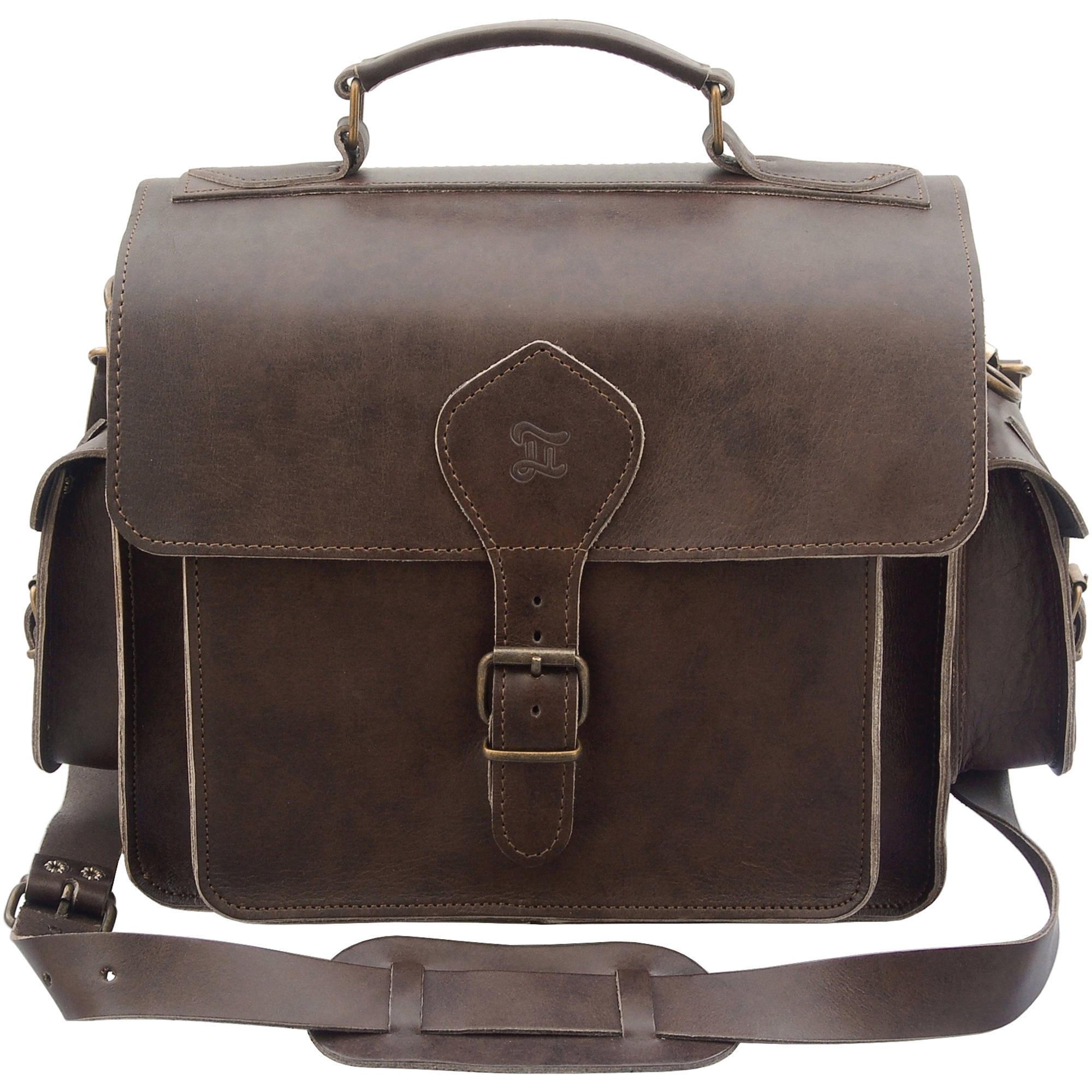 456f04772e Grafea England Leather Camera Photo Bag GRFPHOBRN-55 B H Photo